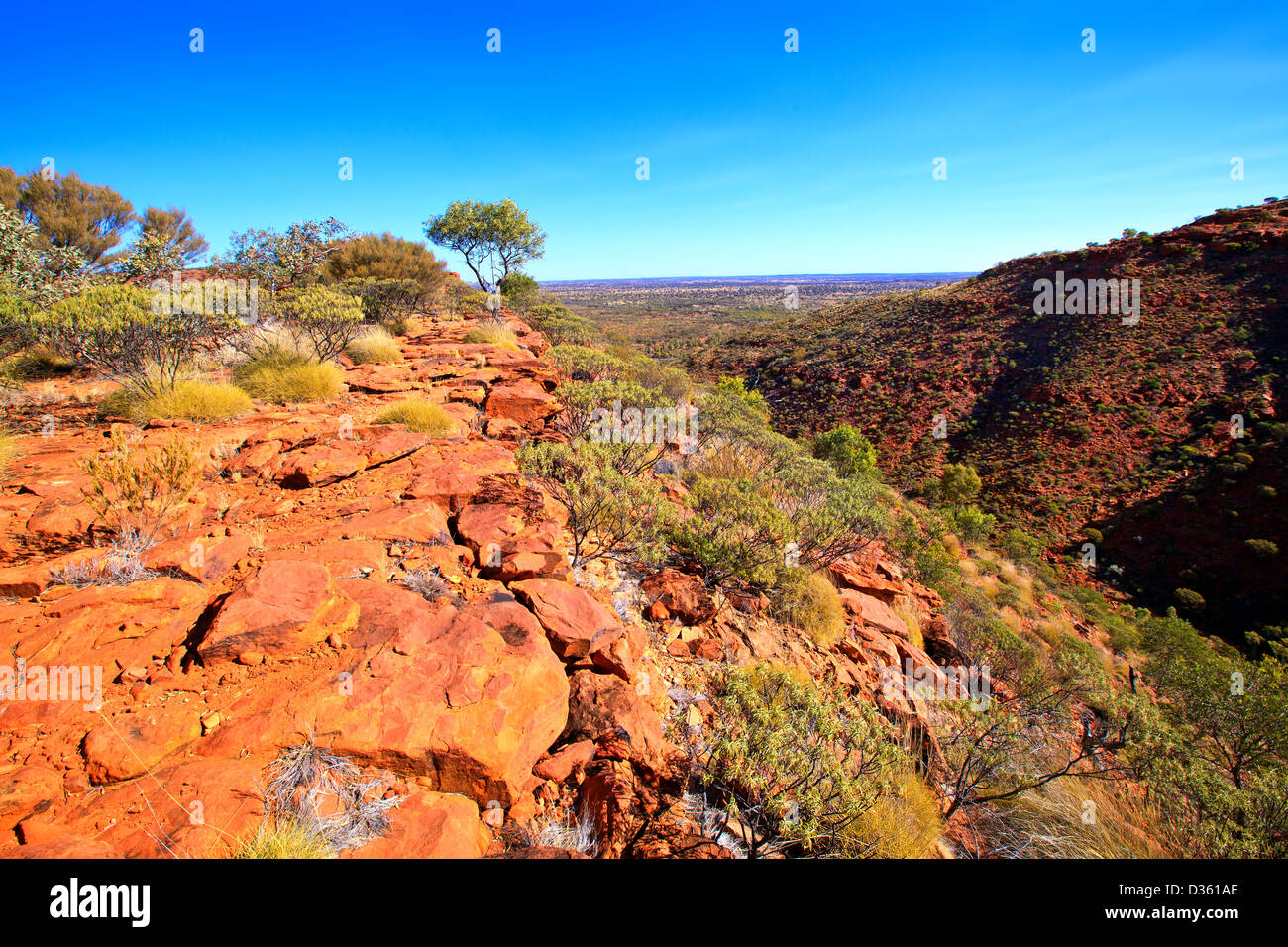 A beautiful view from the hiking trail at Kings canyon Central Australia Northern Territory Stock Photo