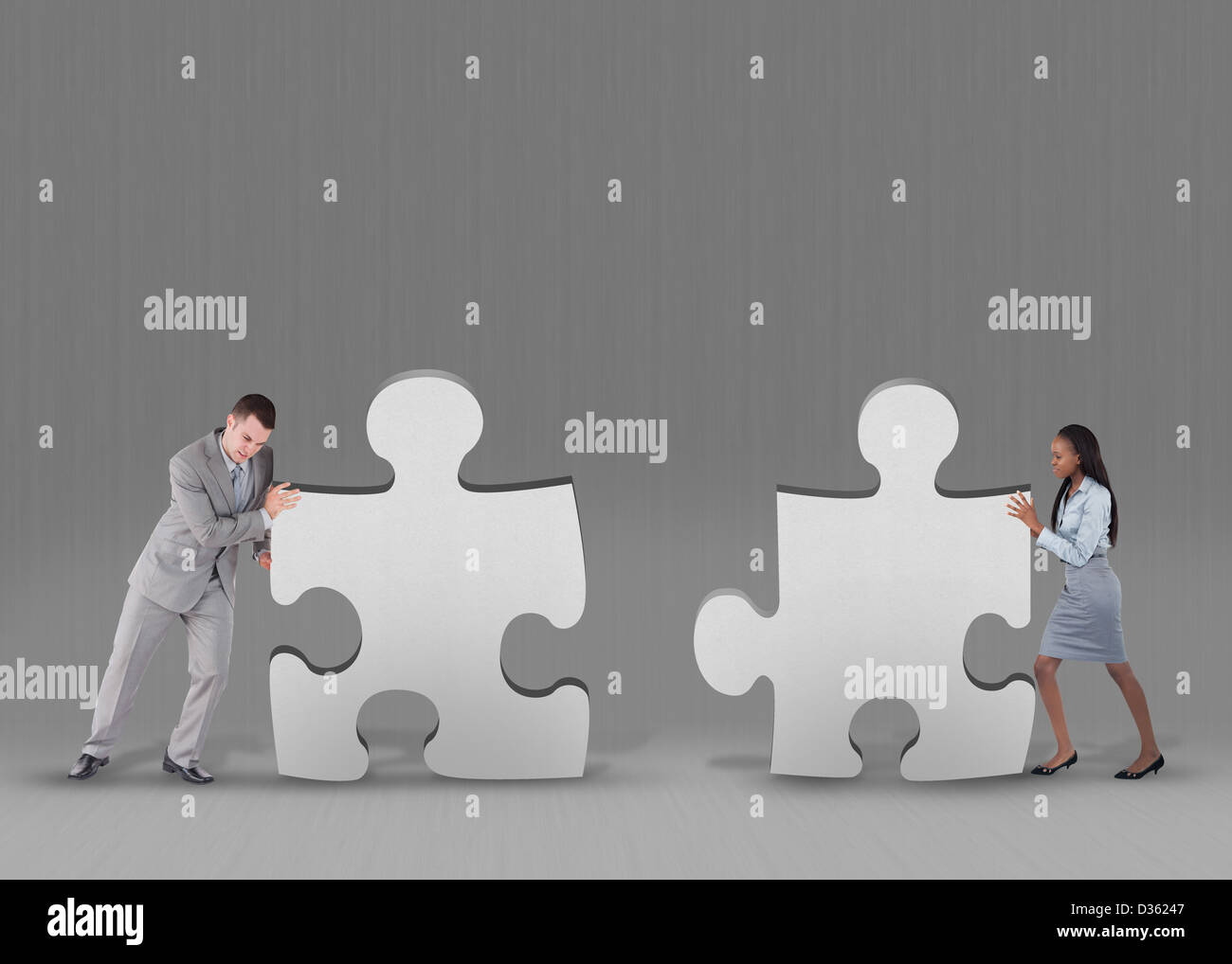 Business people problem solving - Stock Image