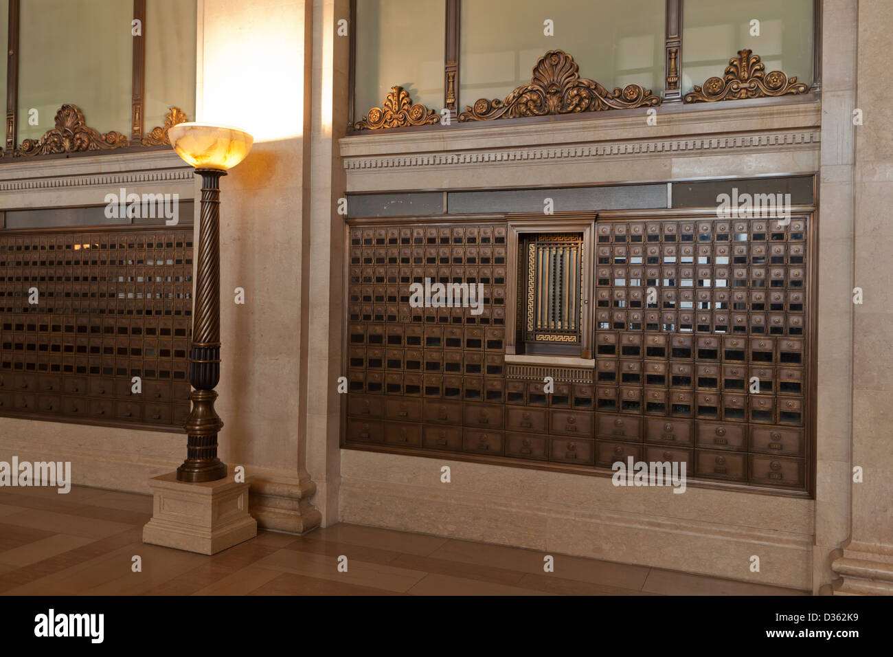 Ordinaire Vintage Post Office Boxes At The National Post Office   Washington, DC    Stock Image