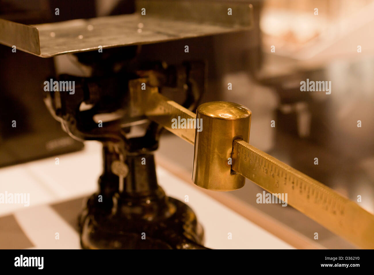 Vintage scale counterweight - Stock Image