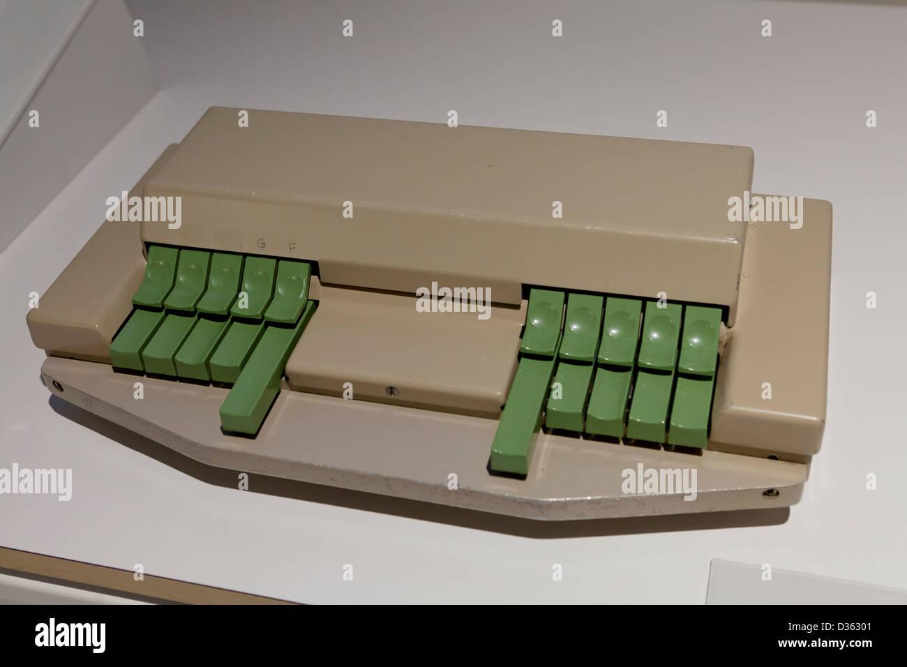 Vintage MPLSM keyboard - Stock Image