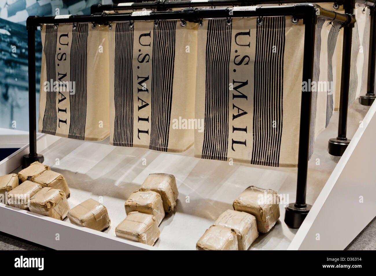 US Mail throwing bins - Stock Image