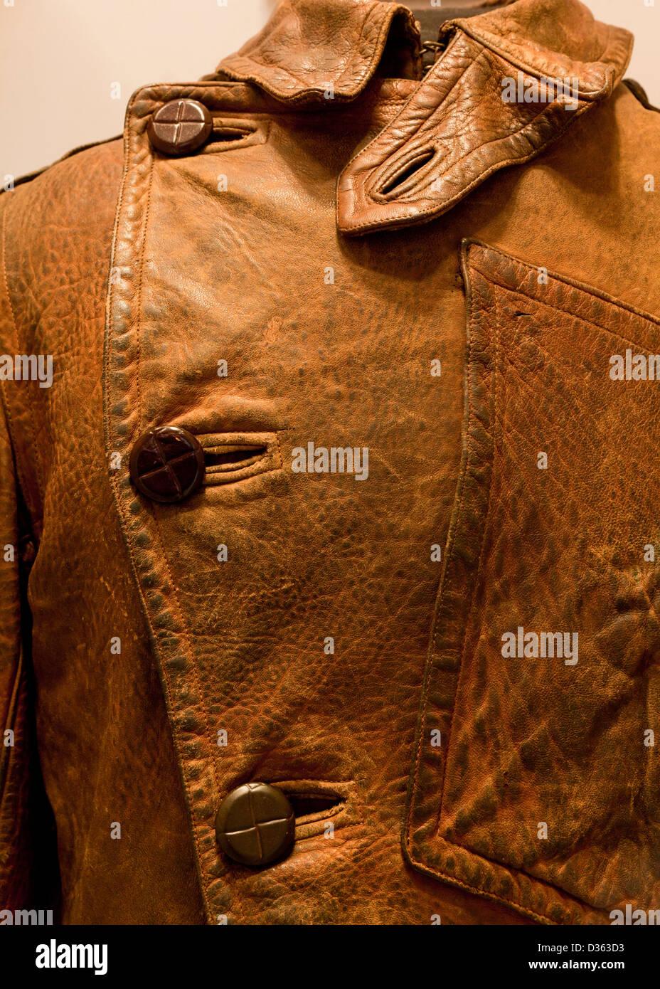 Vintage leather jacket - Stock Image