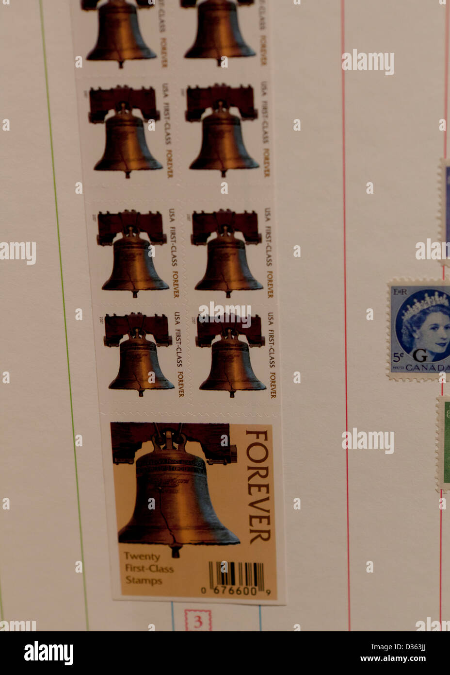 Forever stamp booklet - Stock Image