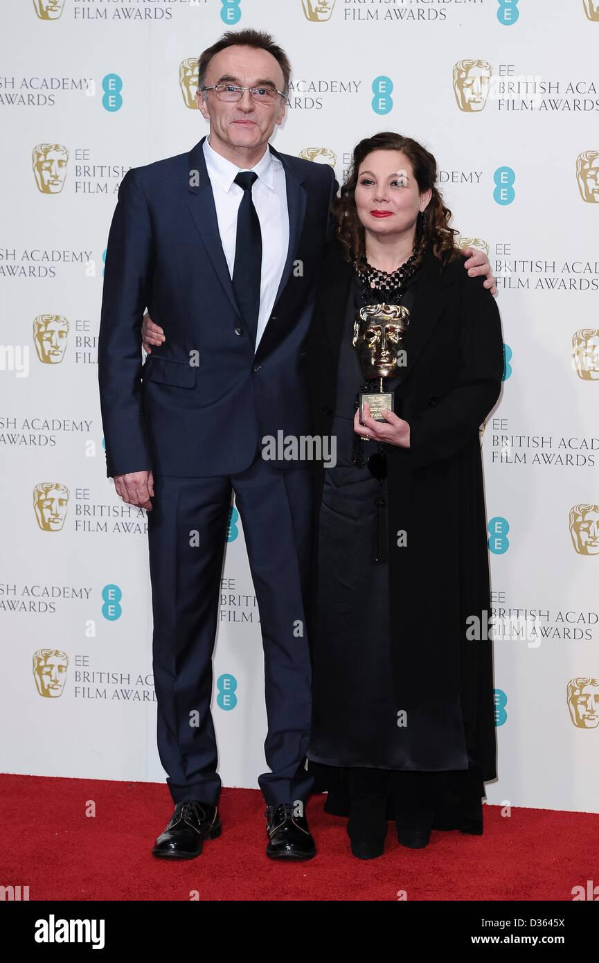 London, UK. Feb 10th, 2013. Tessa Ross, winner of the Outstanding British Contribution To Cinema award, poses in - Stock Image