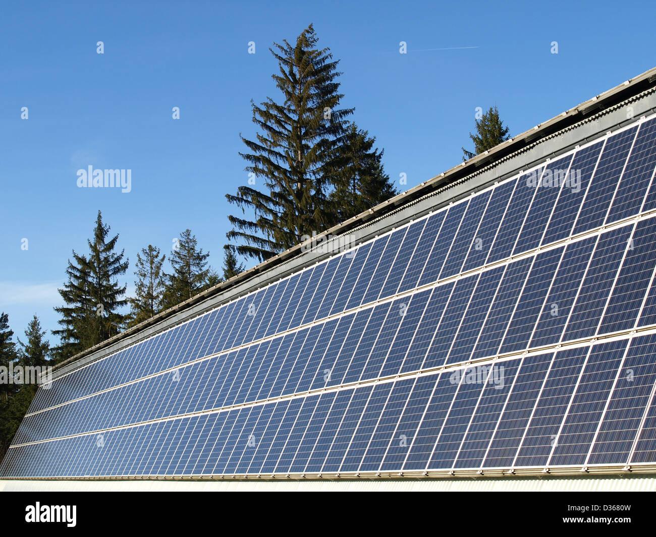solar cells / Solarzellen - Stock Image