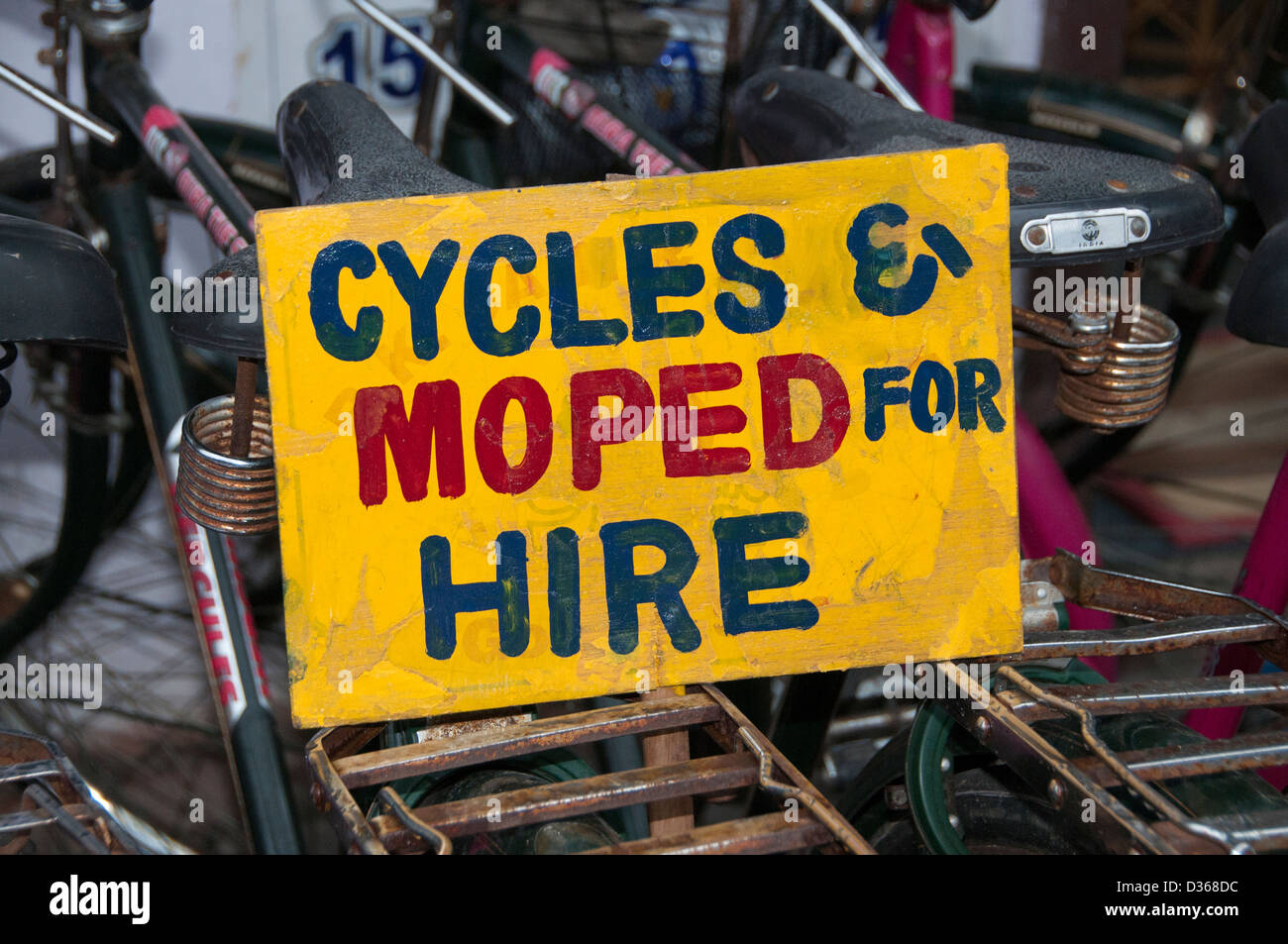 Cycles Moped for Hire Covelong  ( Kovalam or Cobelon ) India Tamil Nadu - Stock Image