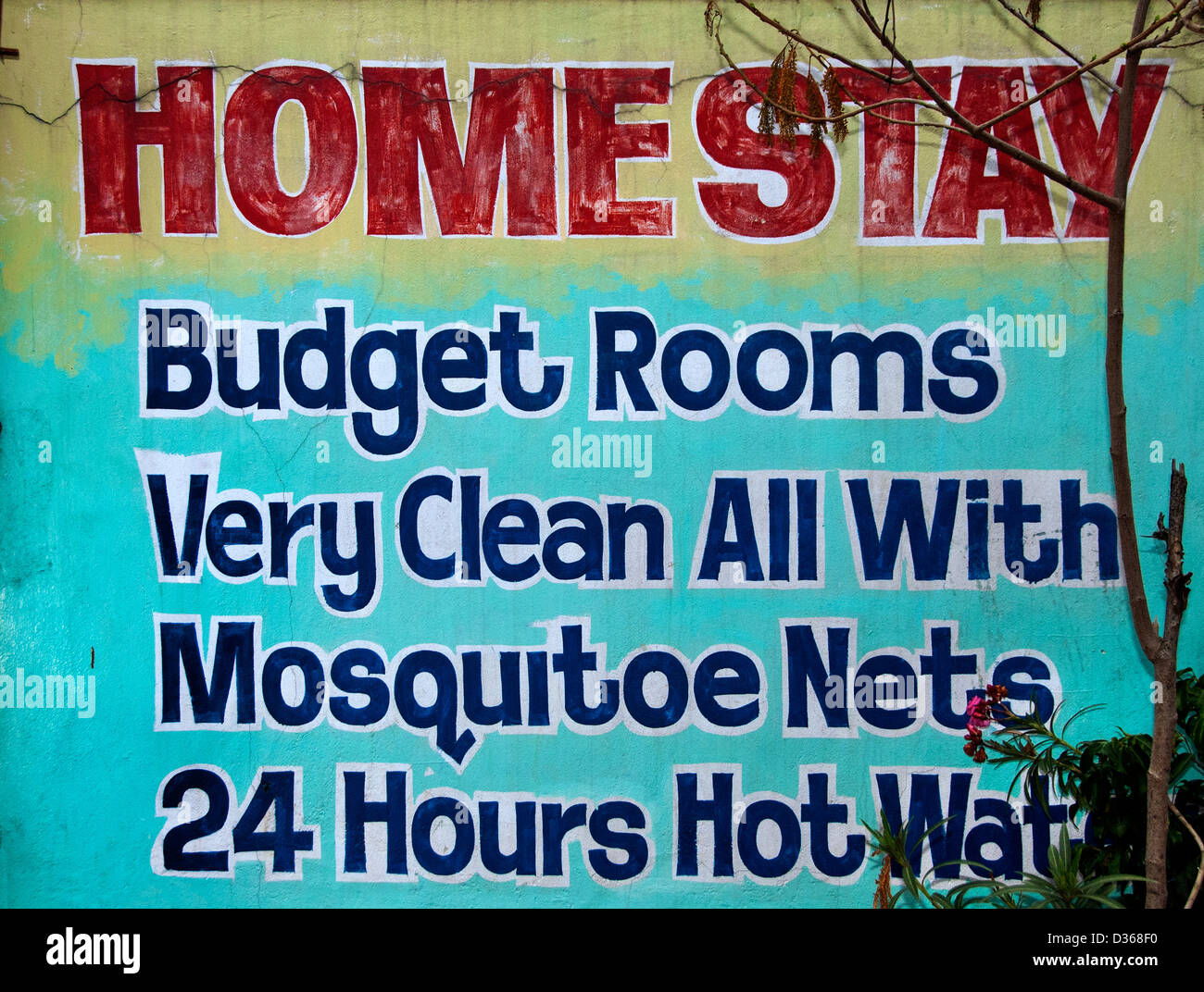 Home stay Budget Rooms Covelong  ( Kovalam or Cobelon ) India Tamil Nadu - Stock Image
