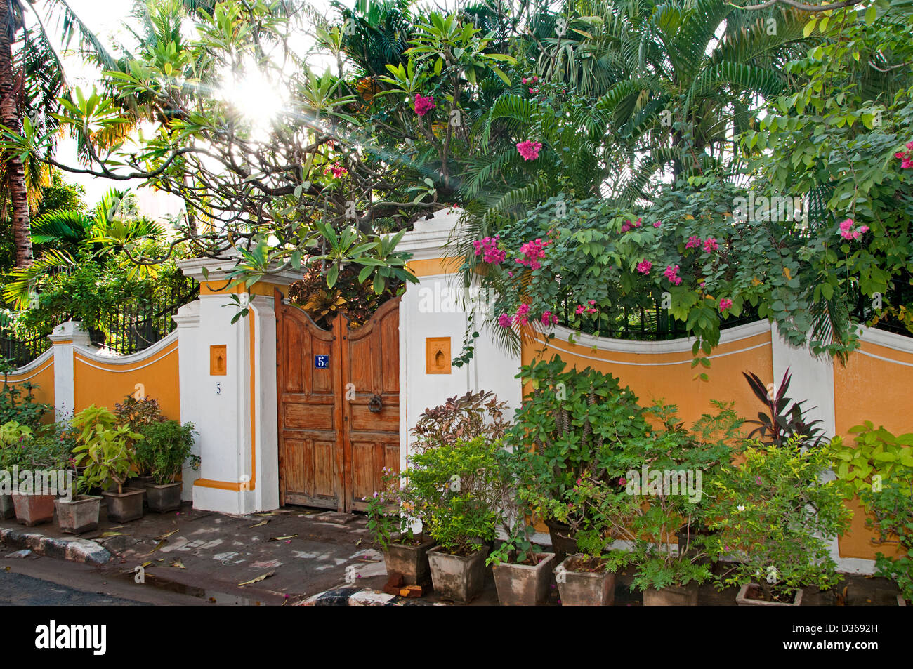 Puducherry Stock Photos Images Alamy House Wiring Books In Tamil With Garden Pondicherry India Nadu Image