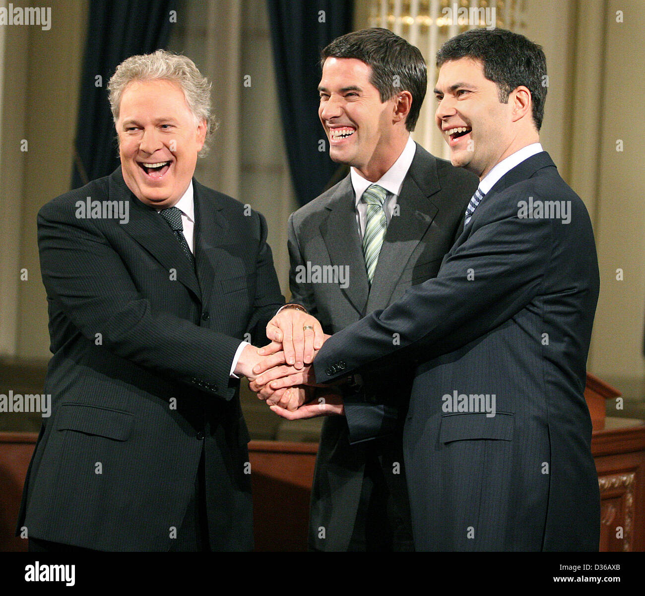 Jean Charest Mario Dumont Andre Boisclair - Stock Image