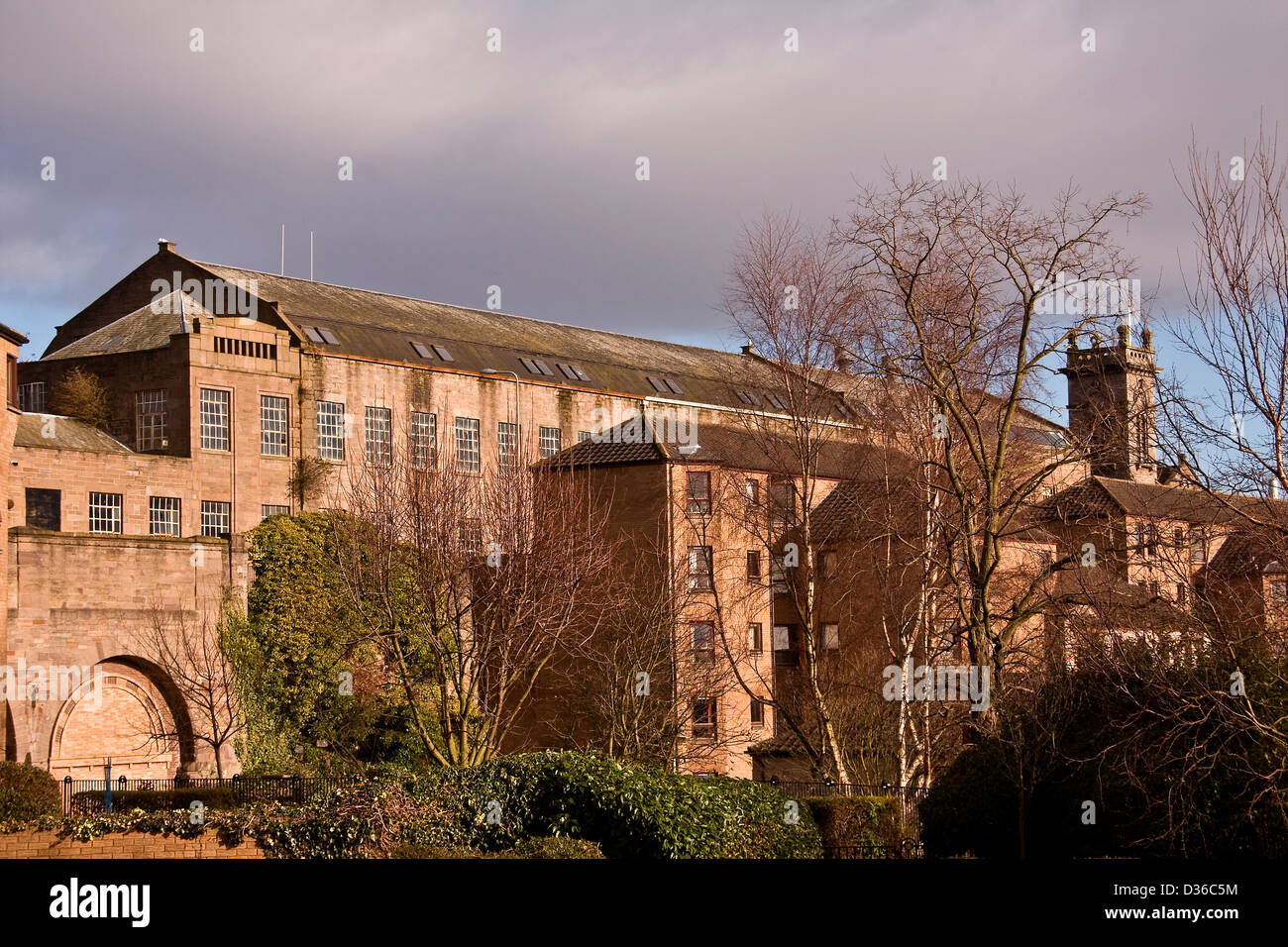 Scottish 1800`s Jute Mill owned by Baxter Brothers and is now a Listed Building in Princess Street Dundee, UK - Stock Image