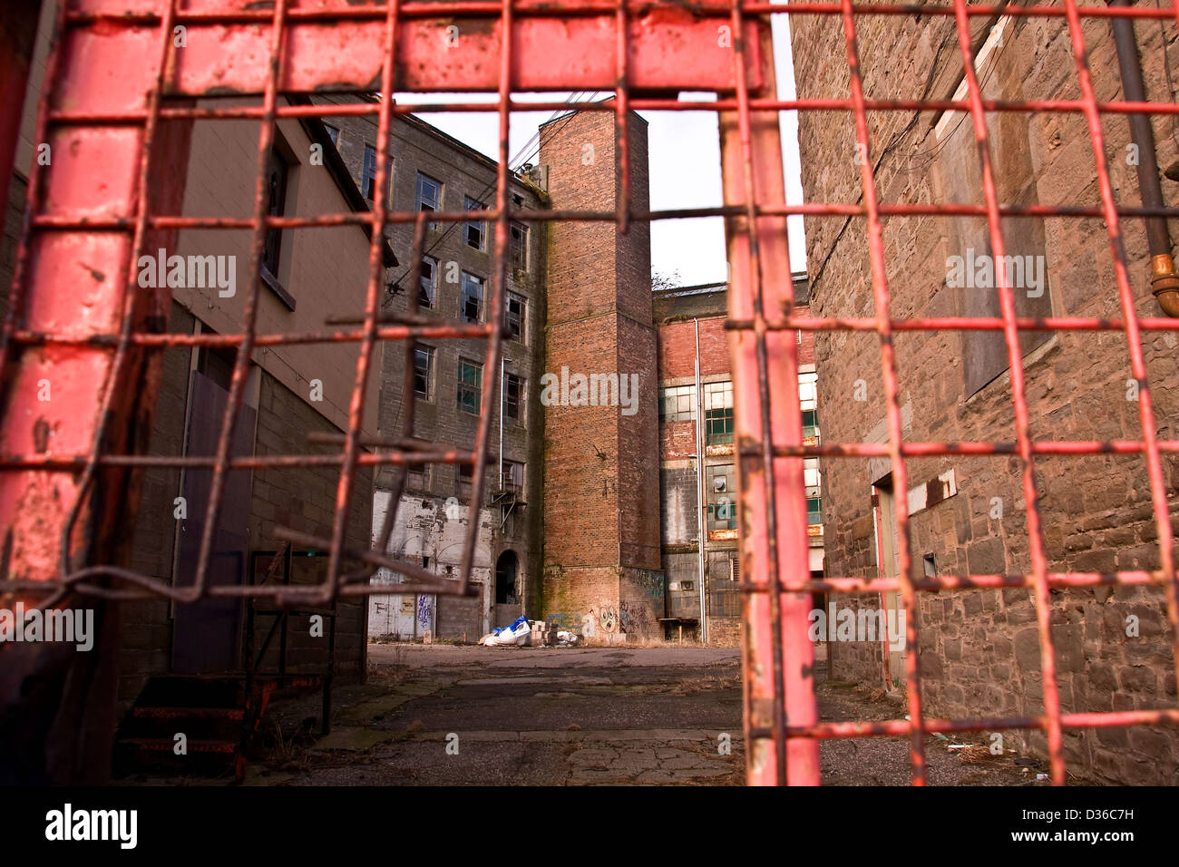 Scottish 1800`s Jute Mill owned by Baxter Brothers where Mary Slessor worked and is now a Listed Building in Dundee, - Stock Image