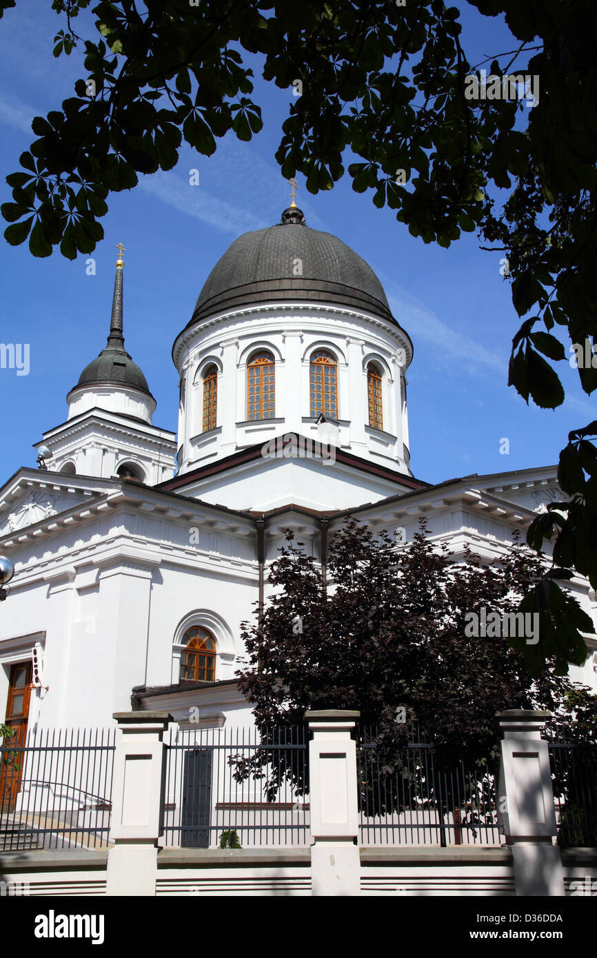 Bialystok, Poland - city architecture. Podlaskie province. Orthodox cathedral of Saint Nicholas. - Stock Image