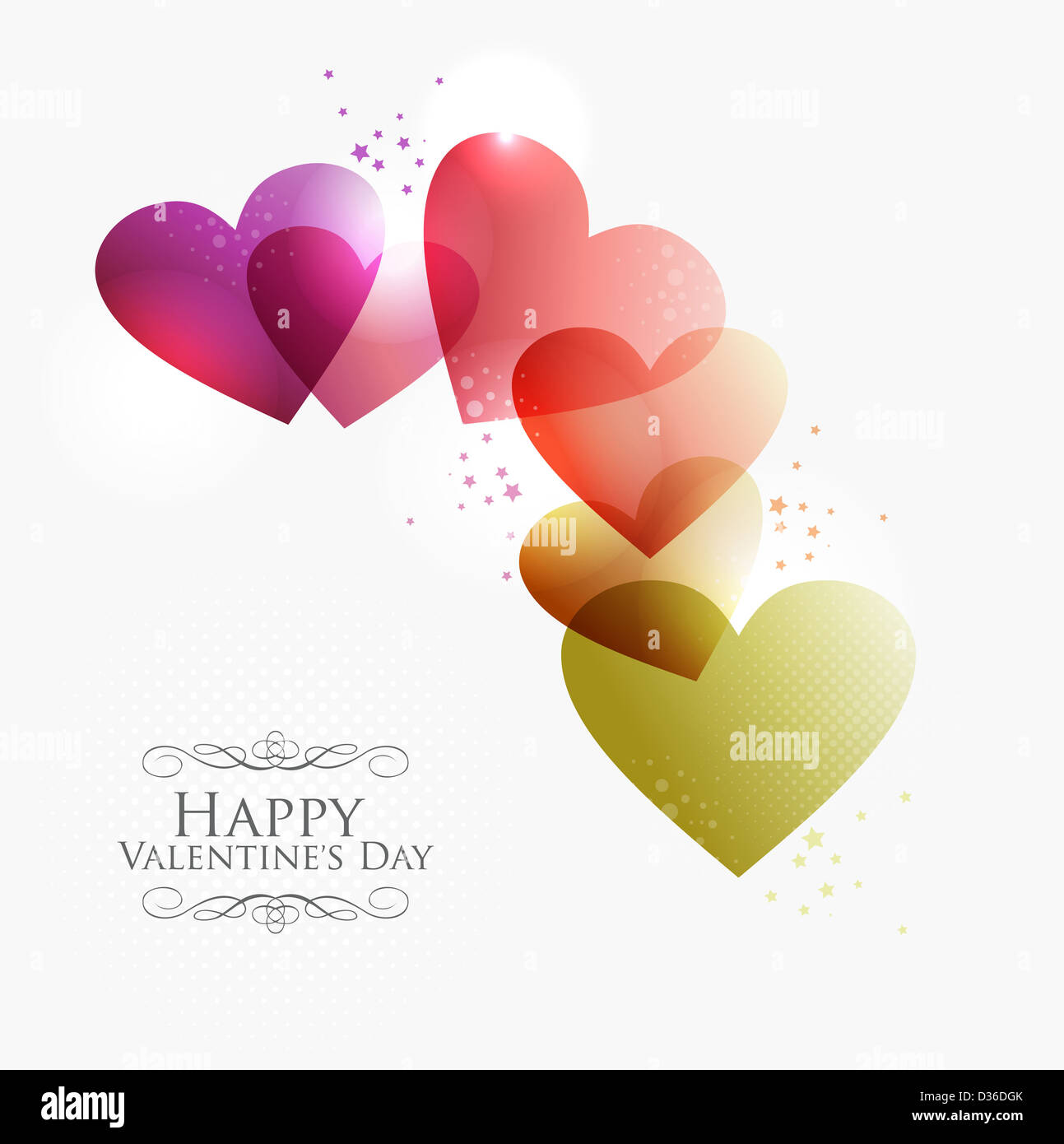 Valentine Day Transparent Hearts Background Eps10 Illustration With
