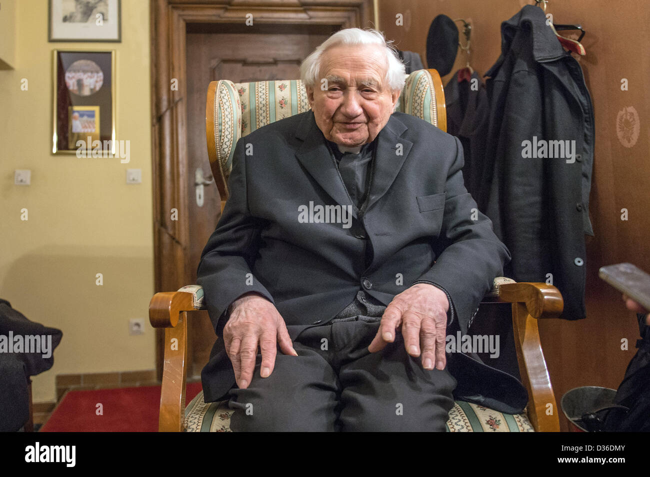 The pope's brother Georg Ratzinger sits in his home in Regensburg,Germany, 11 February 2013. For months, - Stock Image