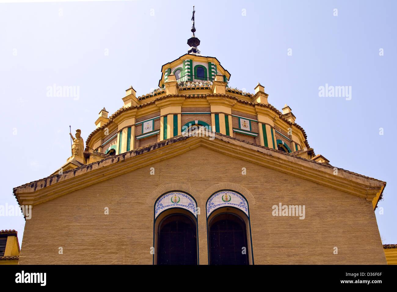 Tower of the hospital Church of San Juan de Dios in Granada, Andalucia, Spain - Stock Image