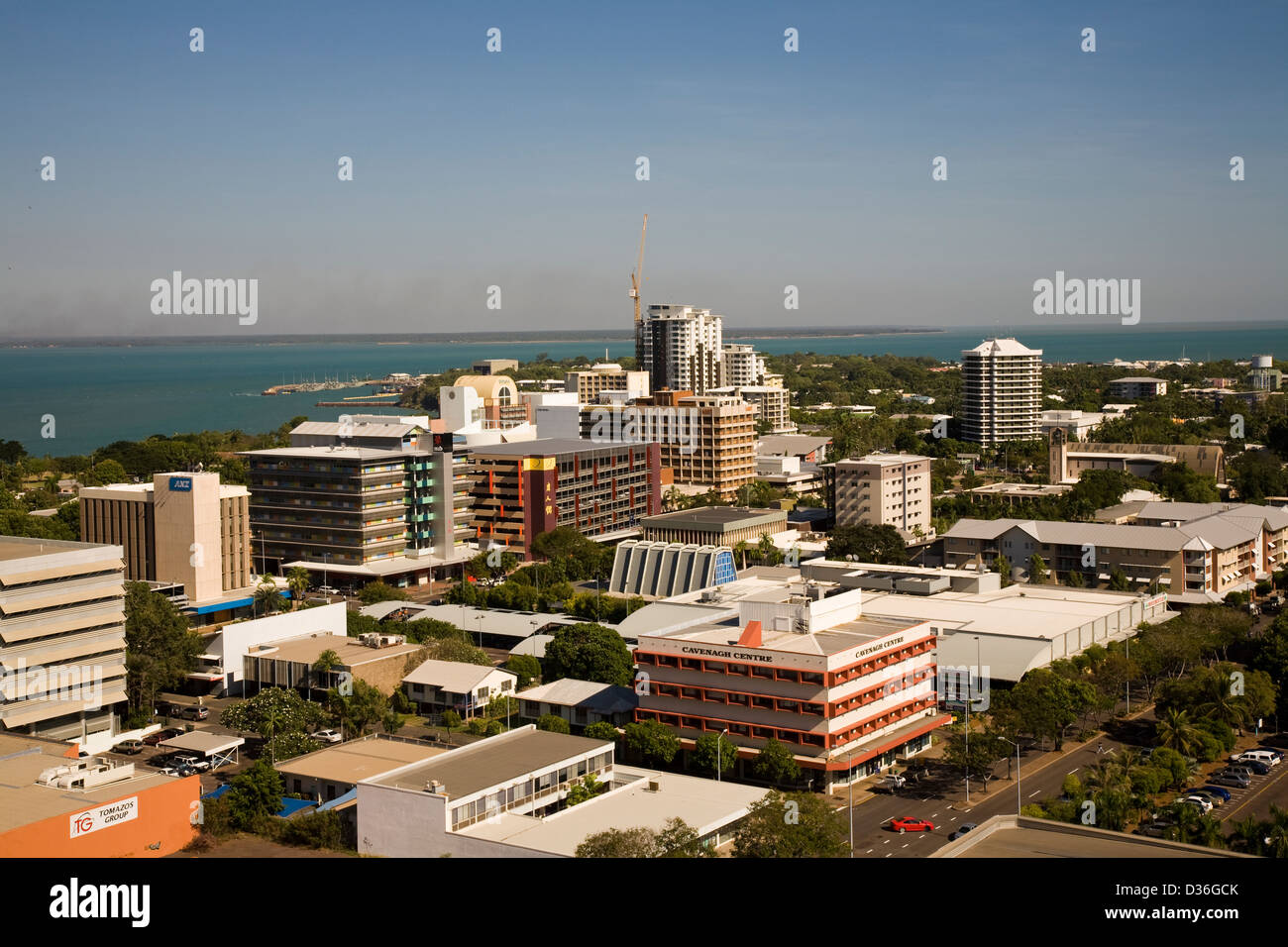 An overview of downtown Darwin from atop the new Mantra ...