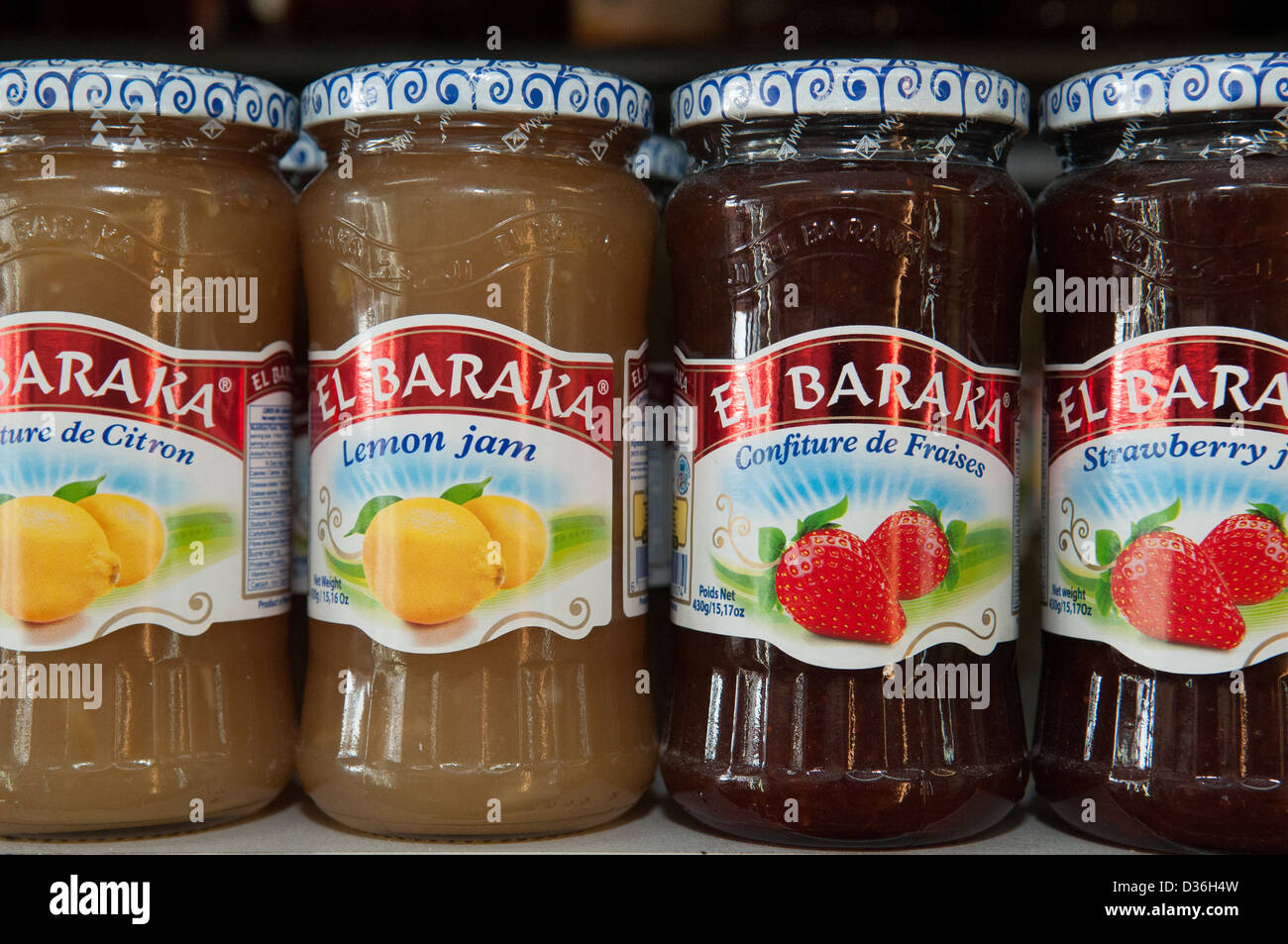 Imported jam from Northern Africa - Stock Image