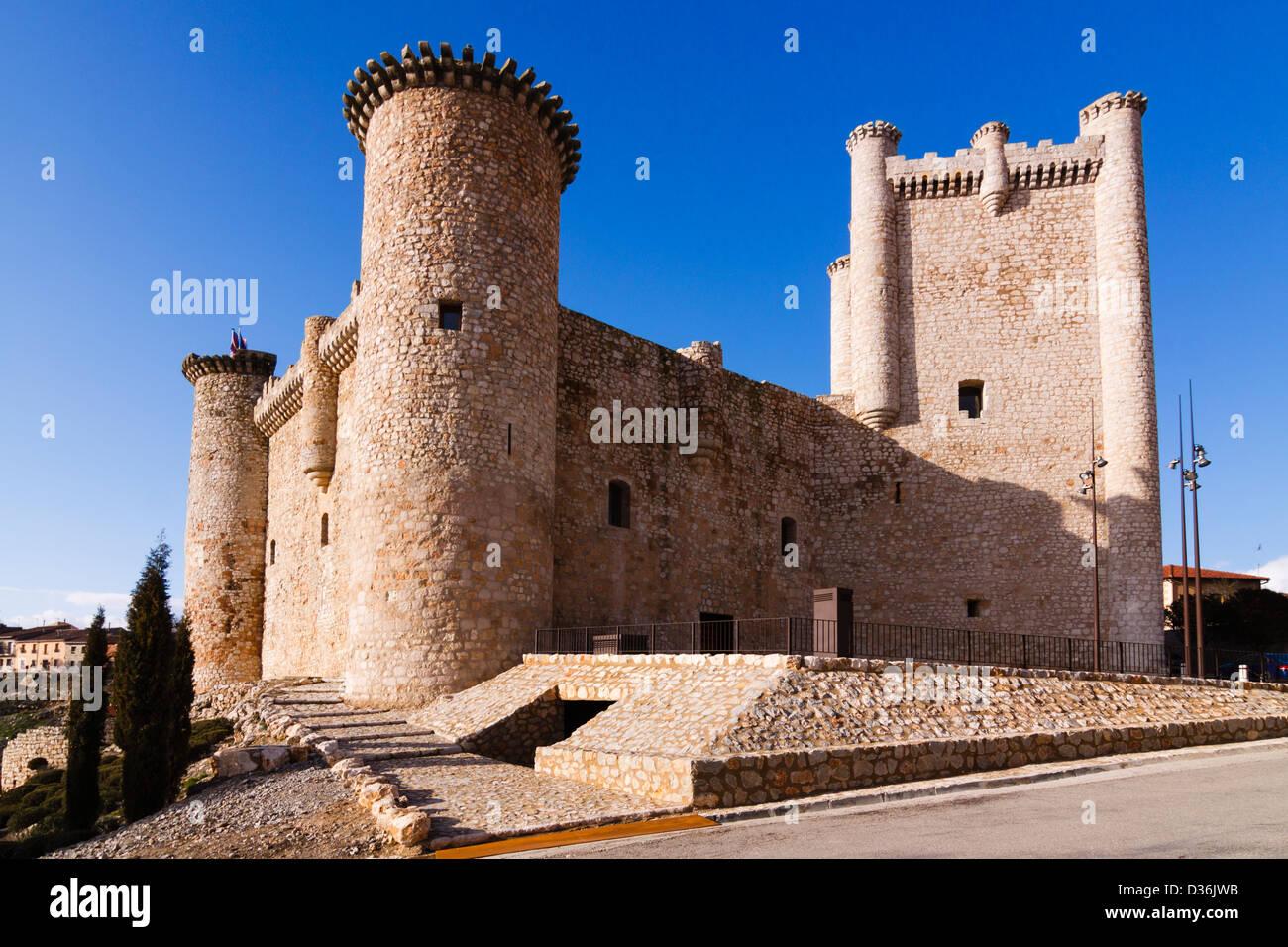 Templar Castle in Torija, Alcarria, Guadalajara province, Castile La Mancha, Spain. - Stock Image