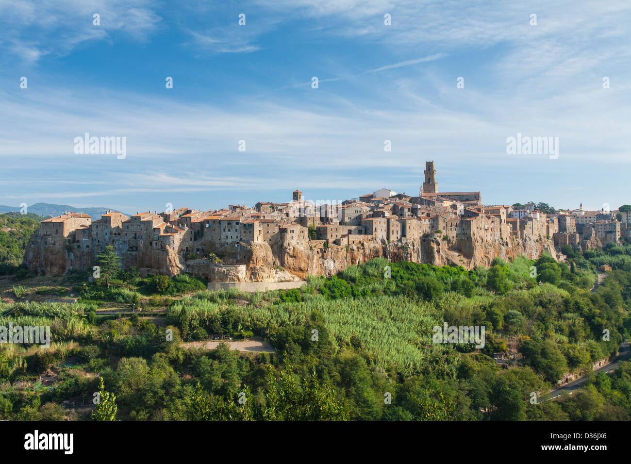 The ancient town of Pitigliano, Grosseto Province, Tuscany, Italy. - Stock Image