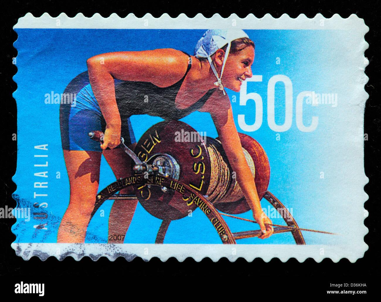 Surf Life Saving, postage stamp, Australia, 2007 - Stock Image