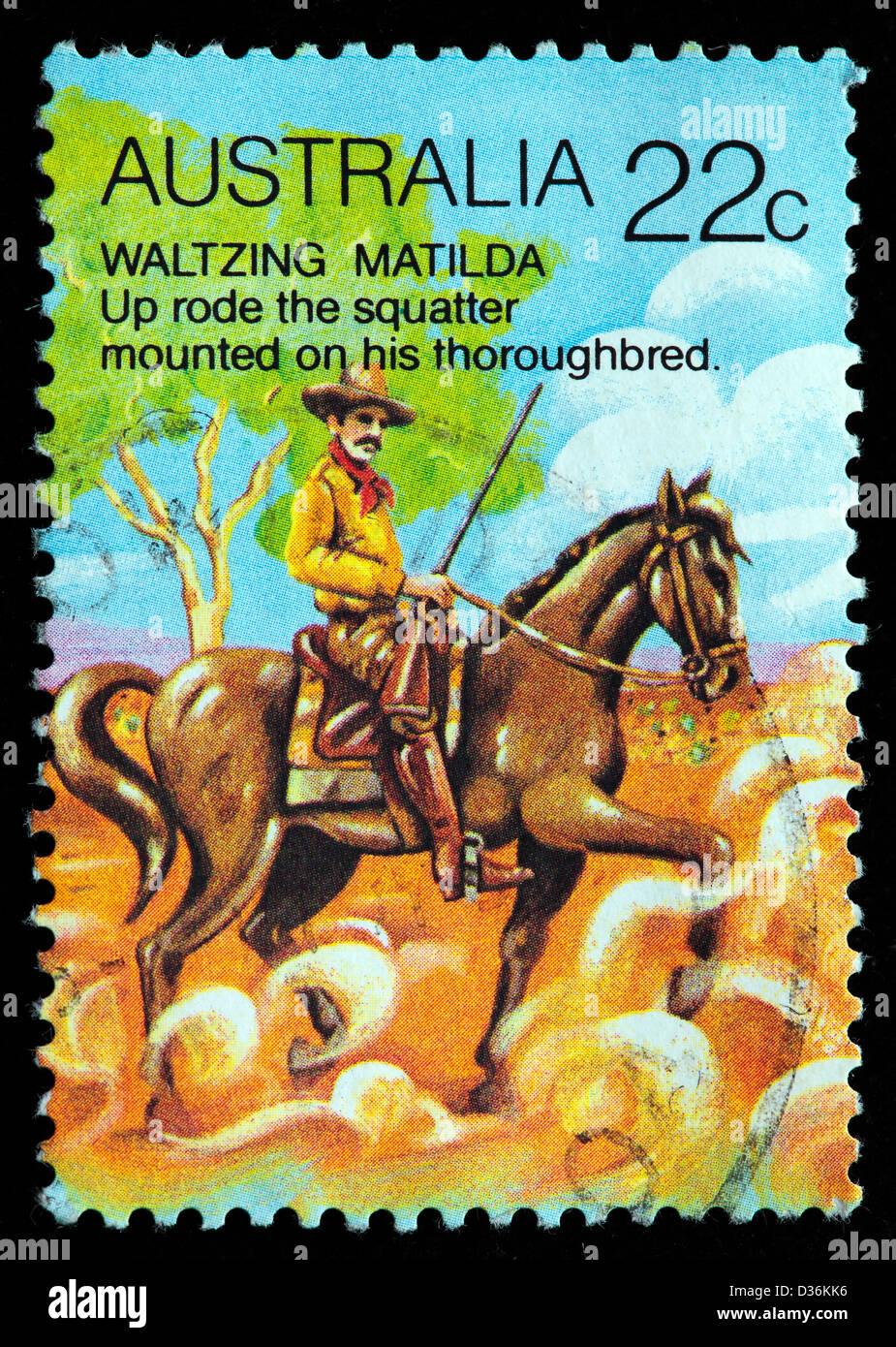 Waltzing Matilda, poem, Andrew Barton Patterson, 1980 - Stock Image
