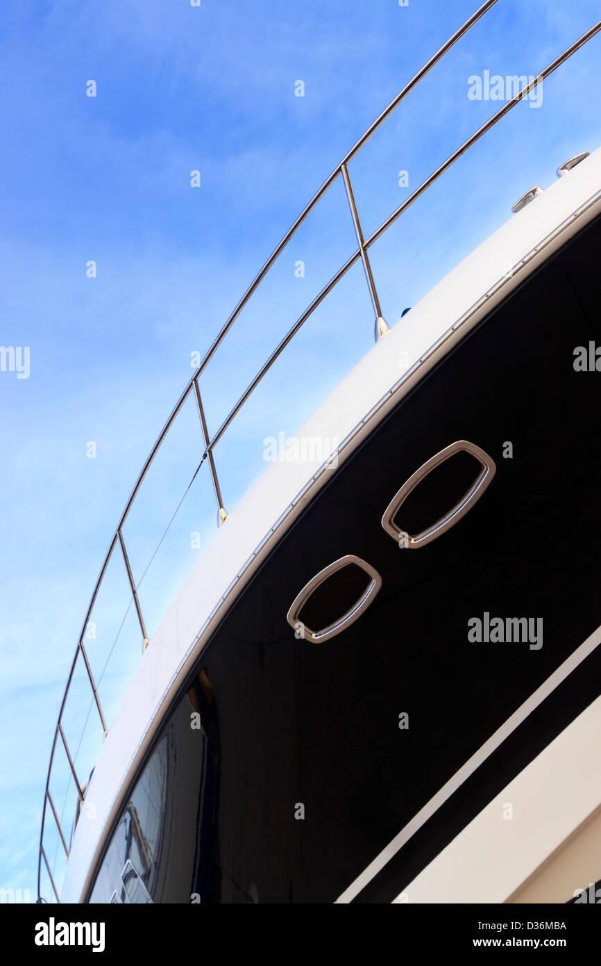 Luxury yacht detail - Stock Image