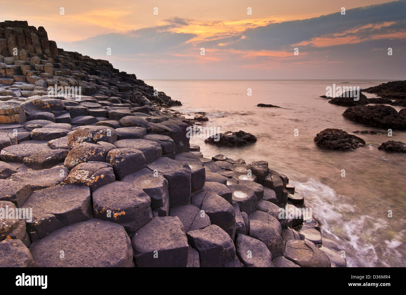 Giants Causeway north Antrim coast County Antrim Northern Ireland GB UK EU Europe - Stock Image