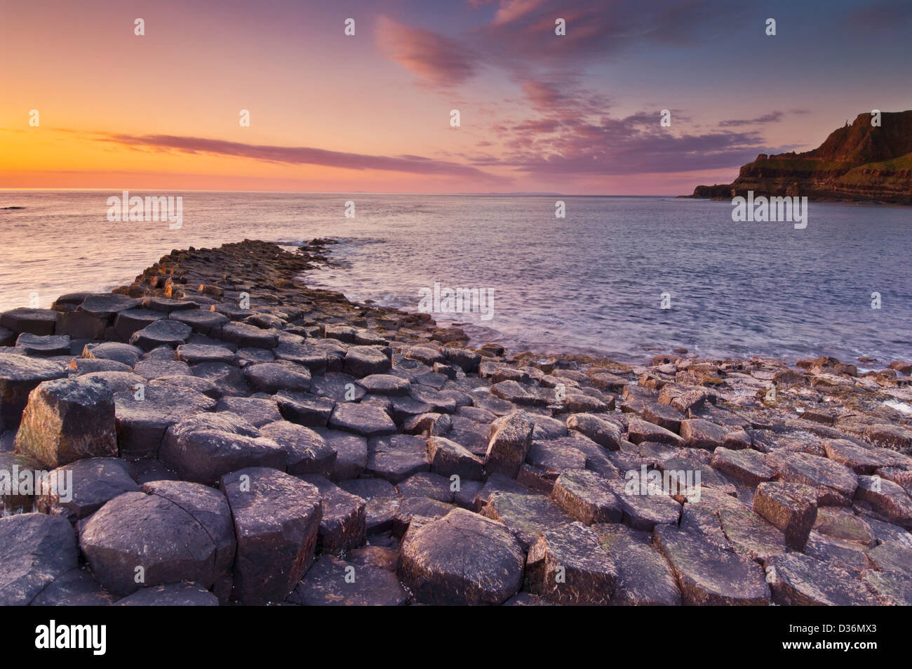 Giants Causeway north Antrim coast County Antrim Northern Ireland GB UK EU Europe - Stock Image
