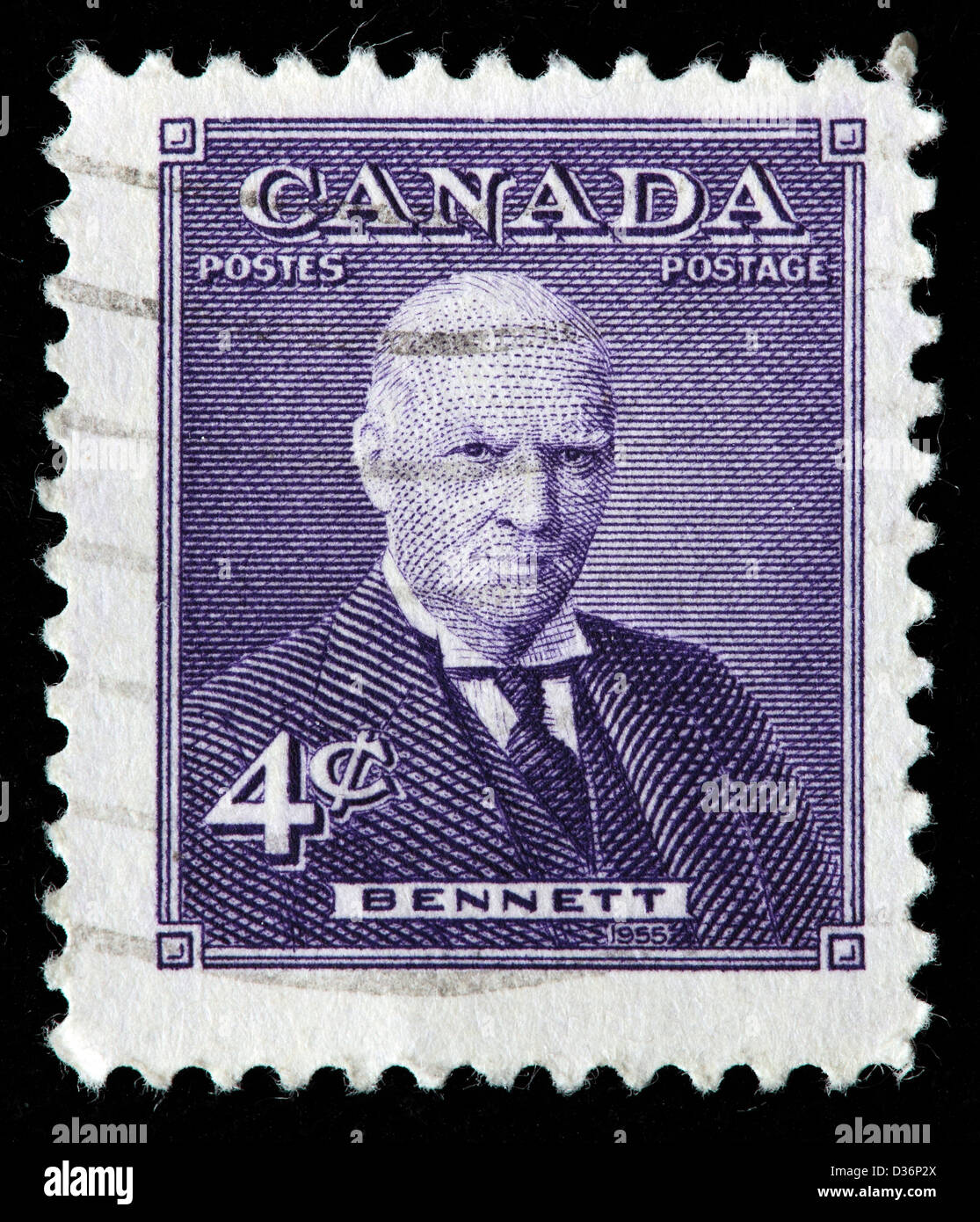 Richard Bedford Bennett Postage Stamp Canada 1955 Stock Photo