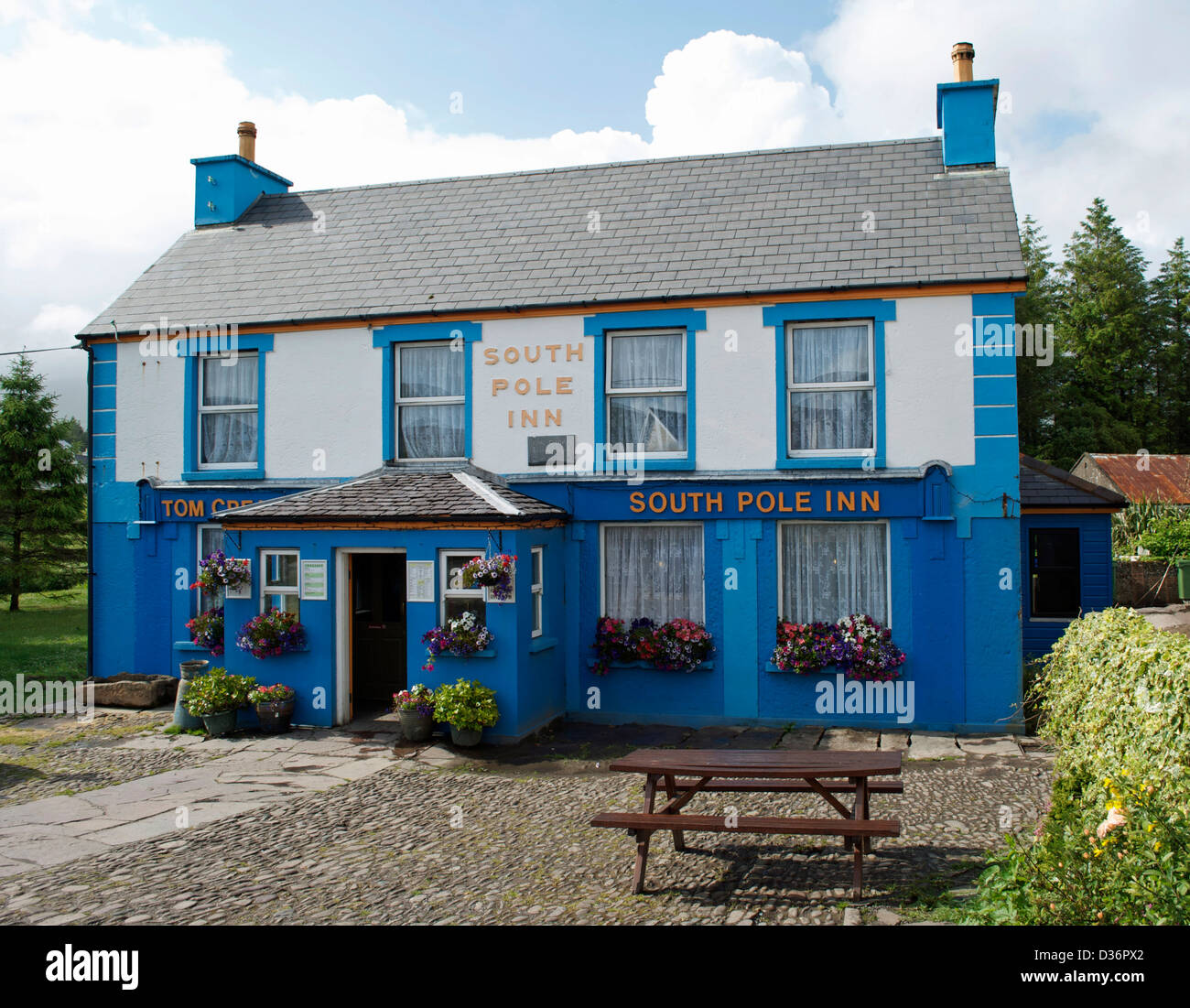 The South Pole Inn in Annascaul, Dingle. A pub and museum dedicated to its former landlord Antarctic explorer Tom - Stock Image