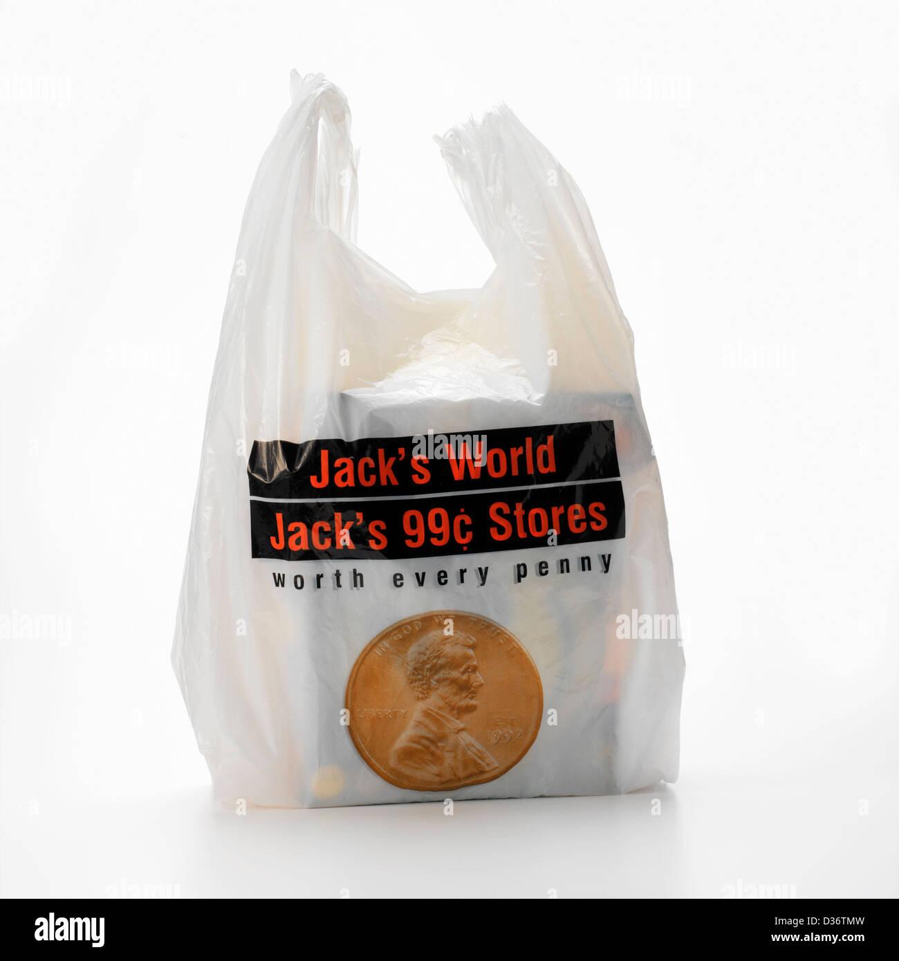 plastic shopping bag - Stock Image