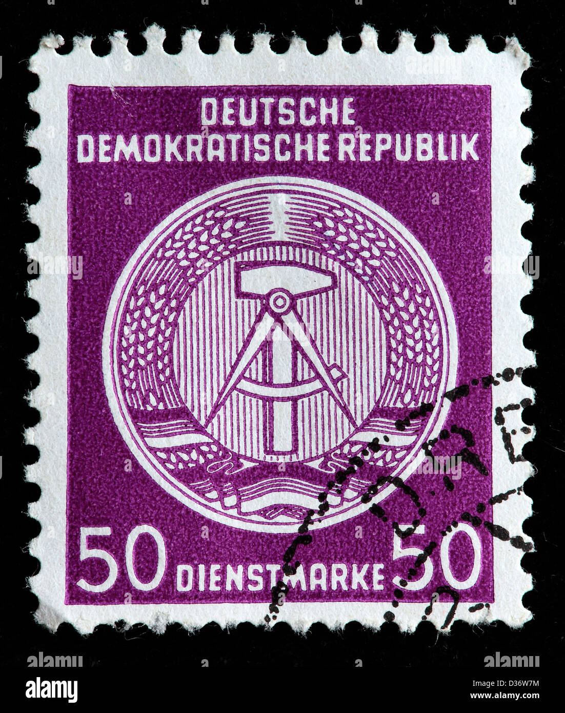 Coat of arms, postage stamp, Germany, 1954 - Stock Image