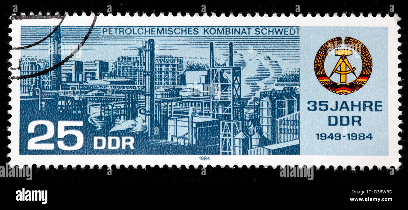 35th Anniversary of DDR, postage stamp, Germany, 1984 - Stock Image