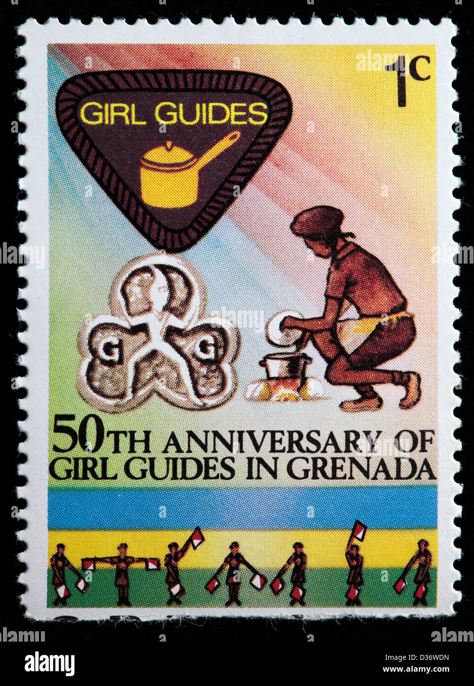 50th Anniversary Of Girl Guides Postage Stamp Grenada 1976