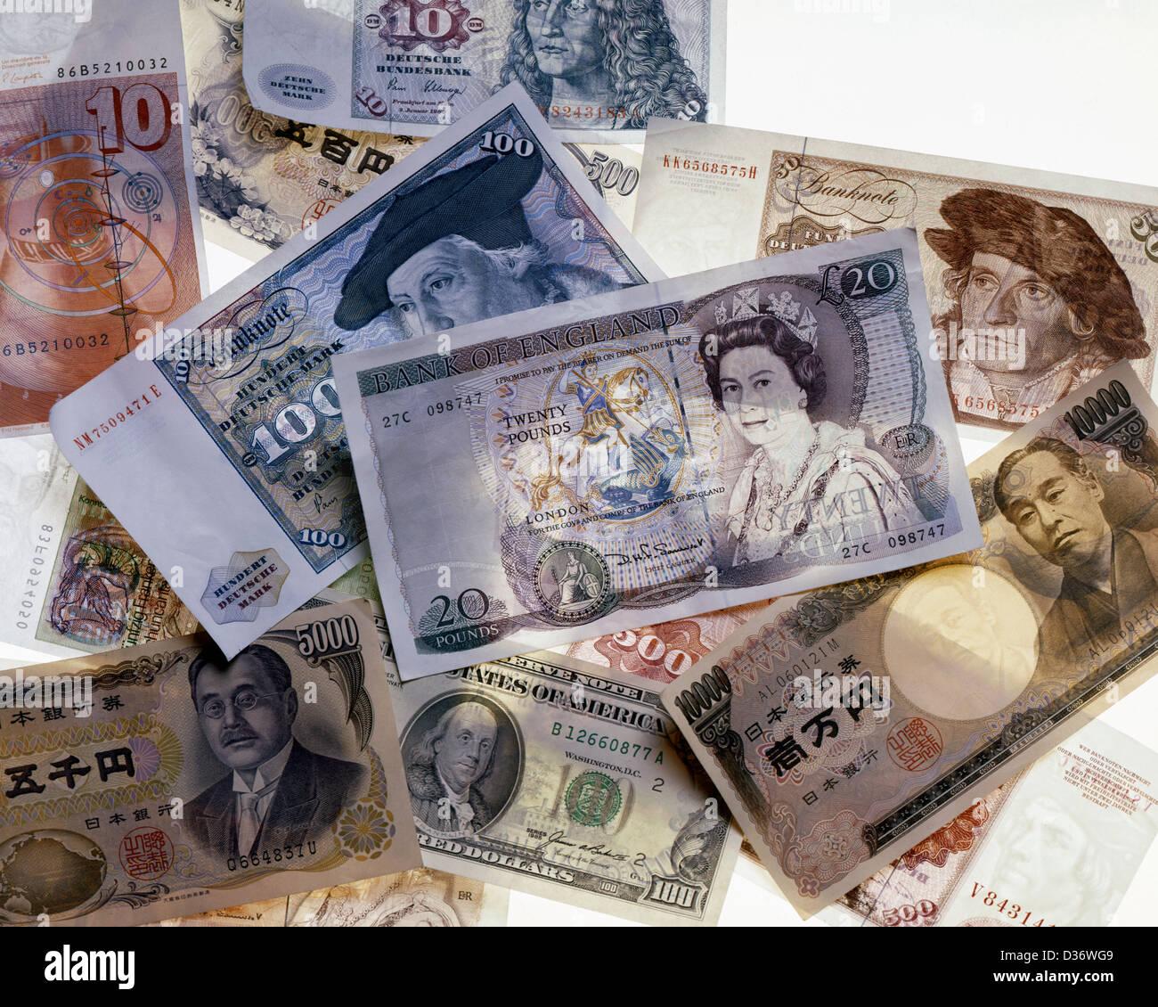 International paper money - Stock Image