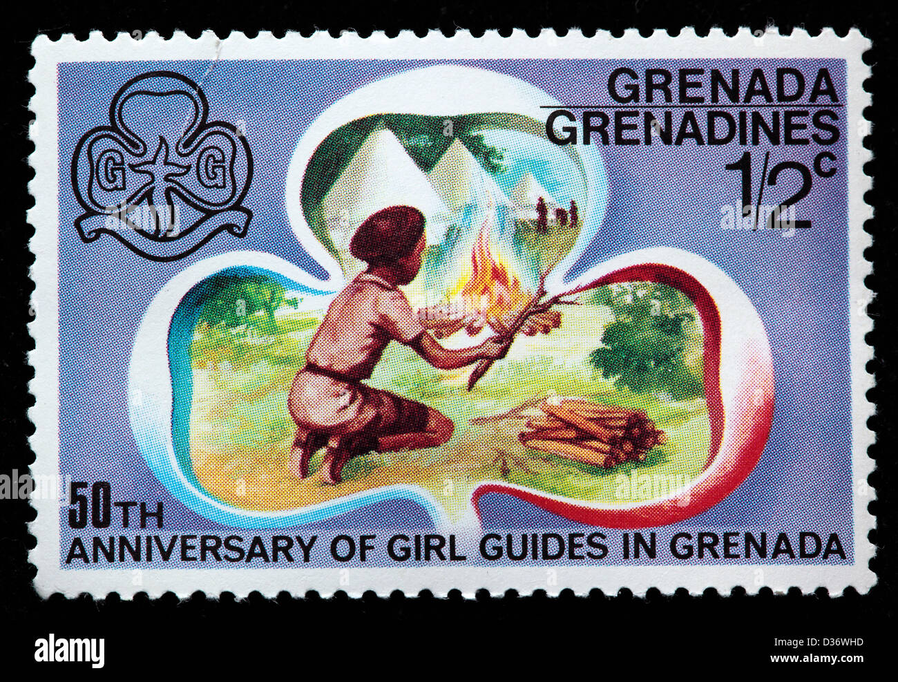 50th Anniversary Of Girl Guides Postage Stamp Grenada Grenadines 1976