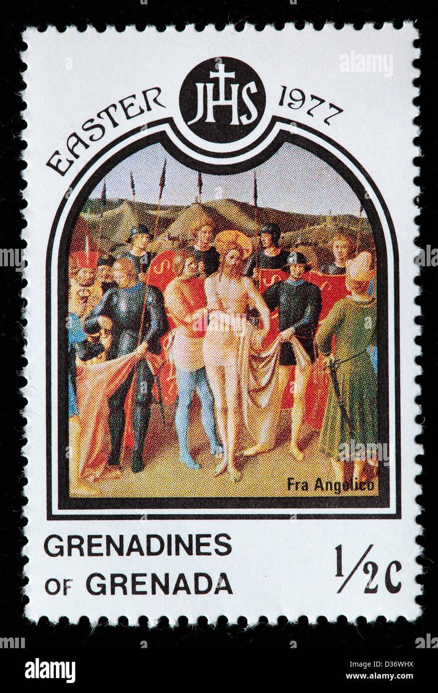 Fra Angelico, Easter, postage stamp, Grenada Grenadines, 1977 - Stock Image