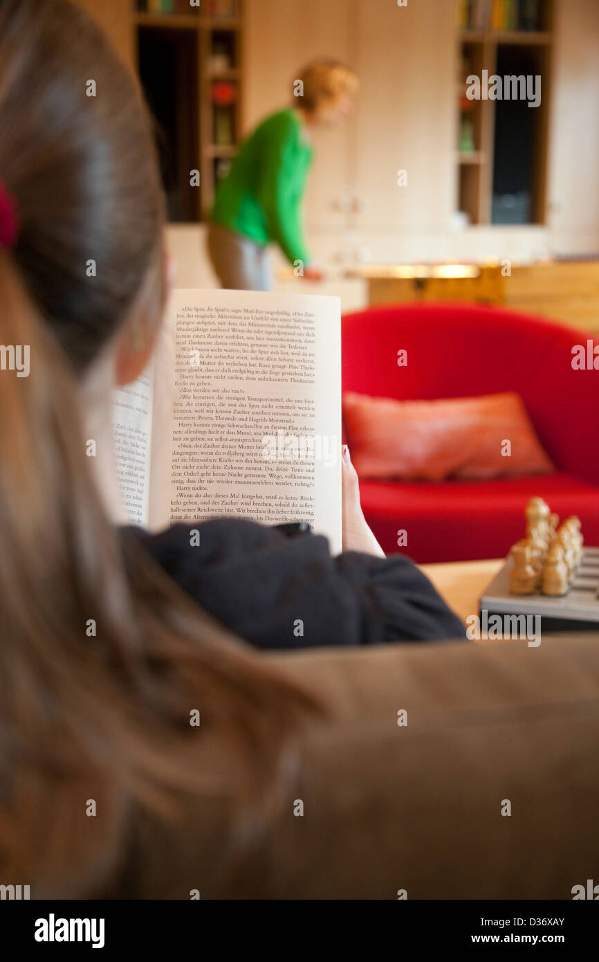 Germany, a patient in a clinic for child and adolescent psychiatry - Stock Image