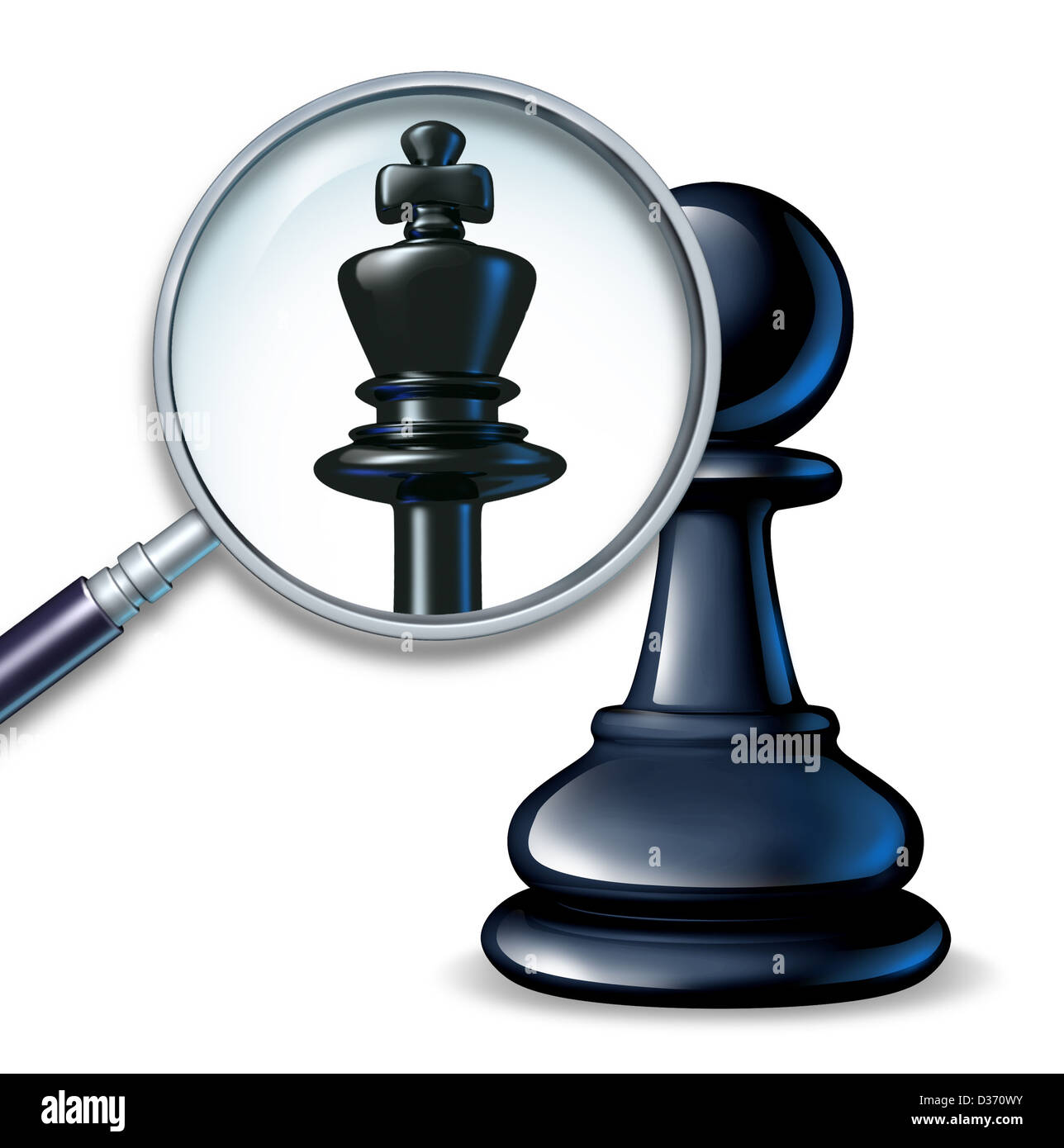 Future Leader Business Concept With A Chess Game Pawn And A Stock