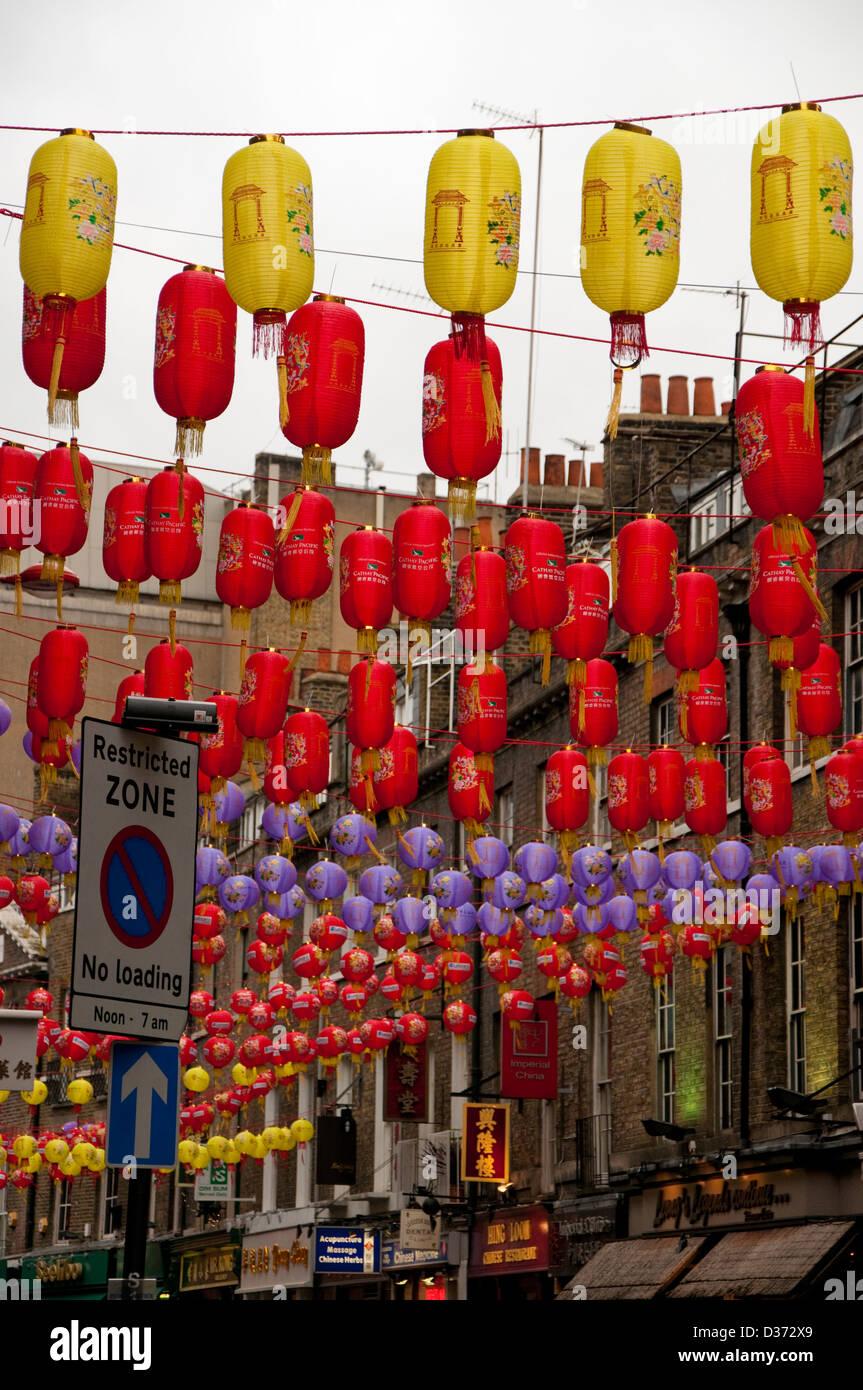 Lanterns for Chinese New Year celebrations - Stock Image