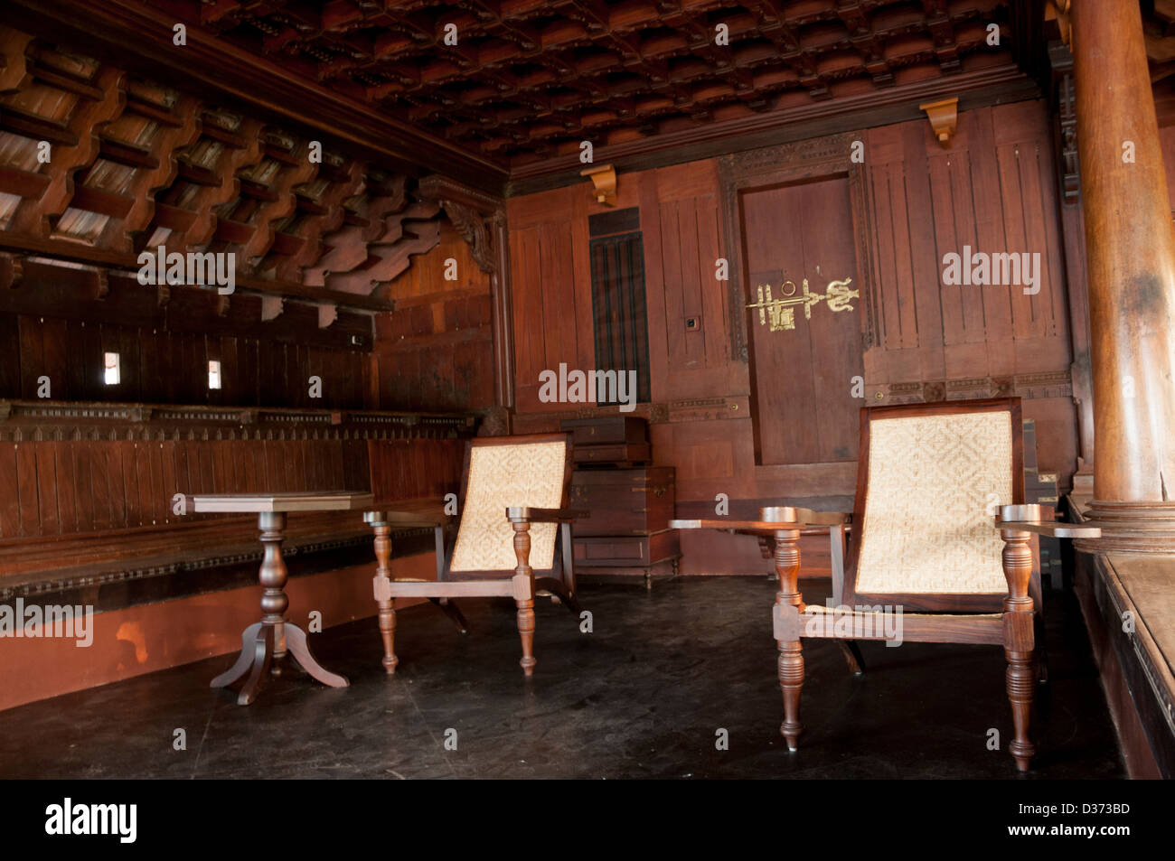 Traditional siting room of ancient Indian house Stock Photo ...