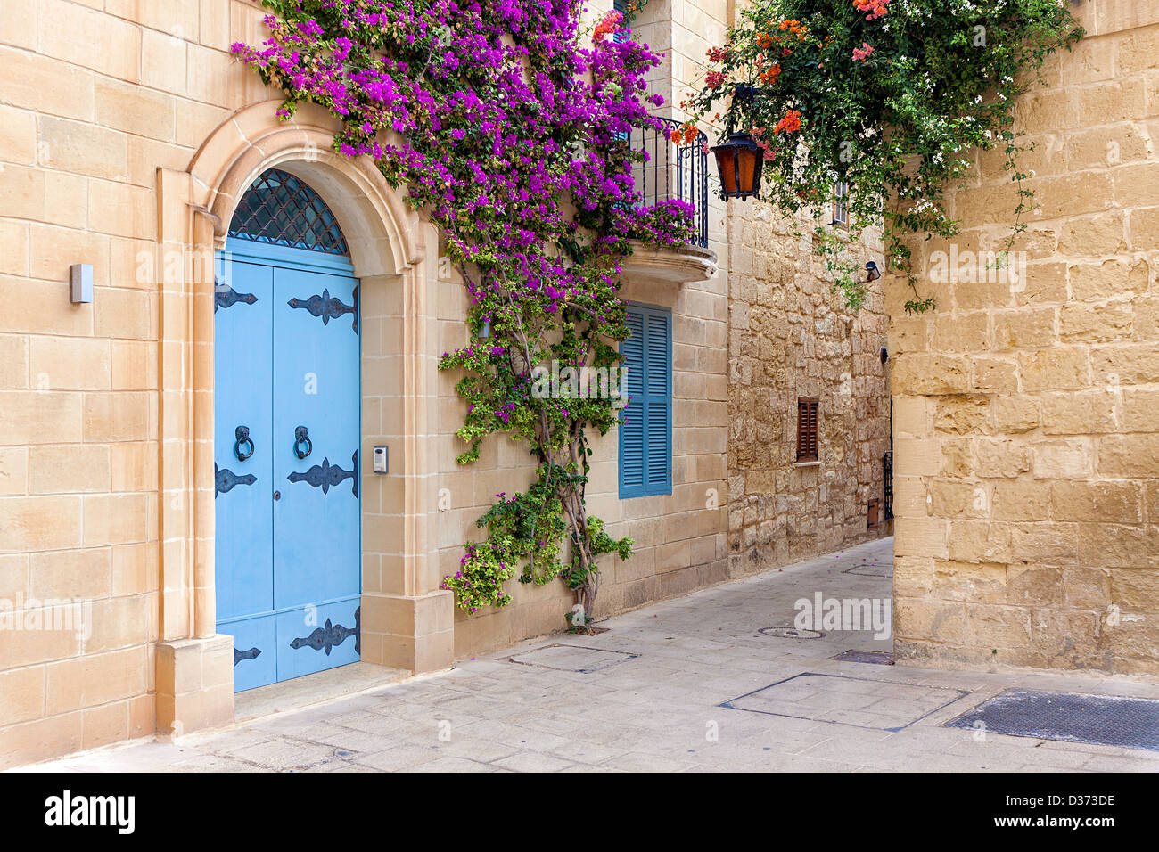 A View Of A Quiet Corner In The Medieval Walled City Of Mdina