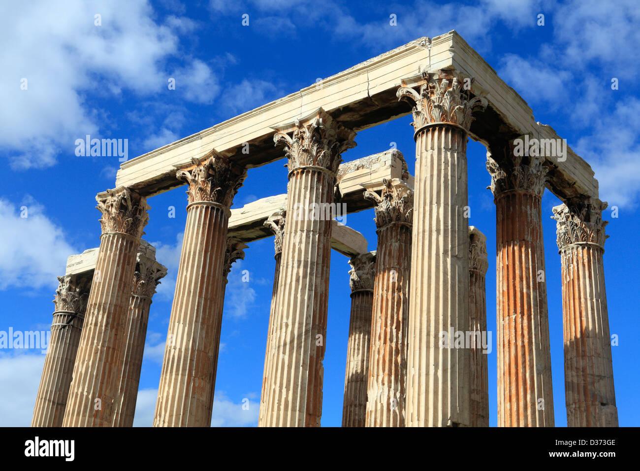greece attica athens the temple of olympian zeus - Stock Image