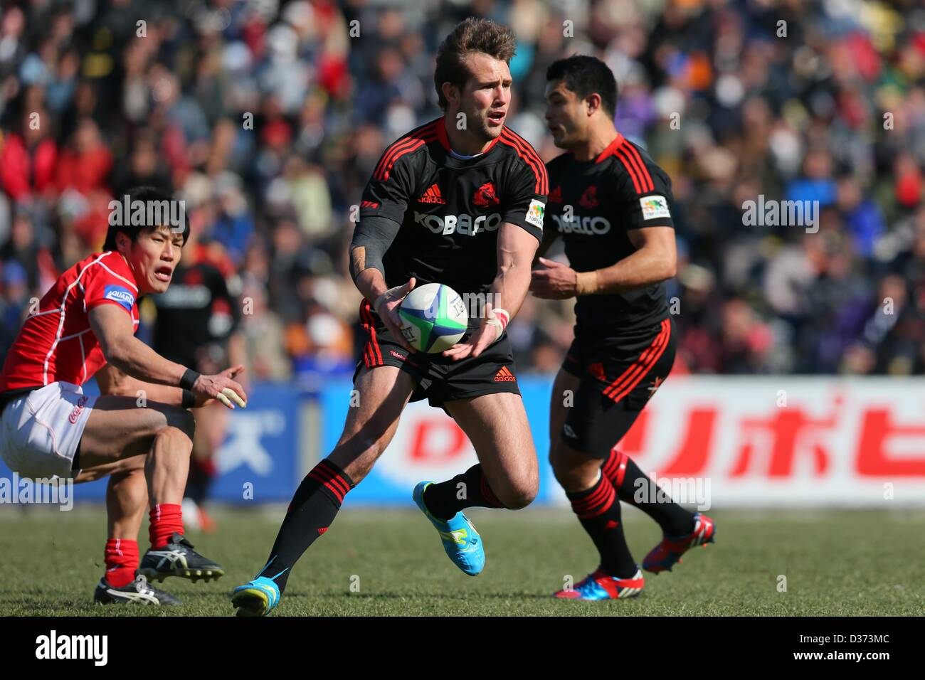 Tokyo, Japan. 10th February 2013. Peter Grant (Kobelco Steelers), The 50th Japan Rugby Football Championship 2nd - Stock Image