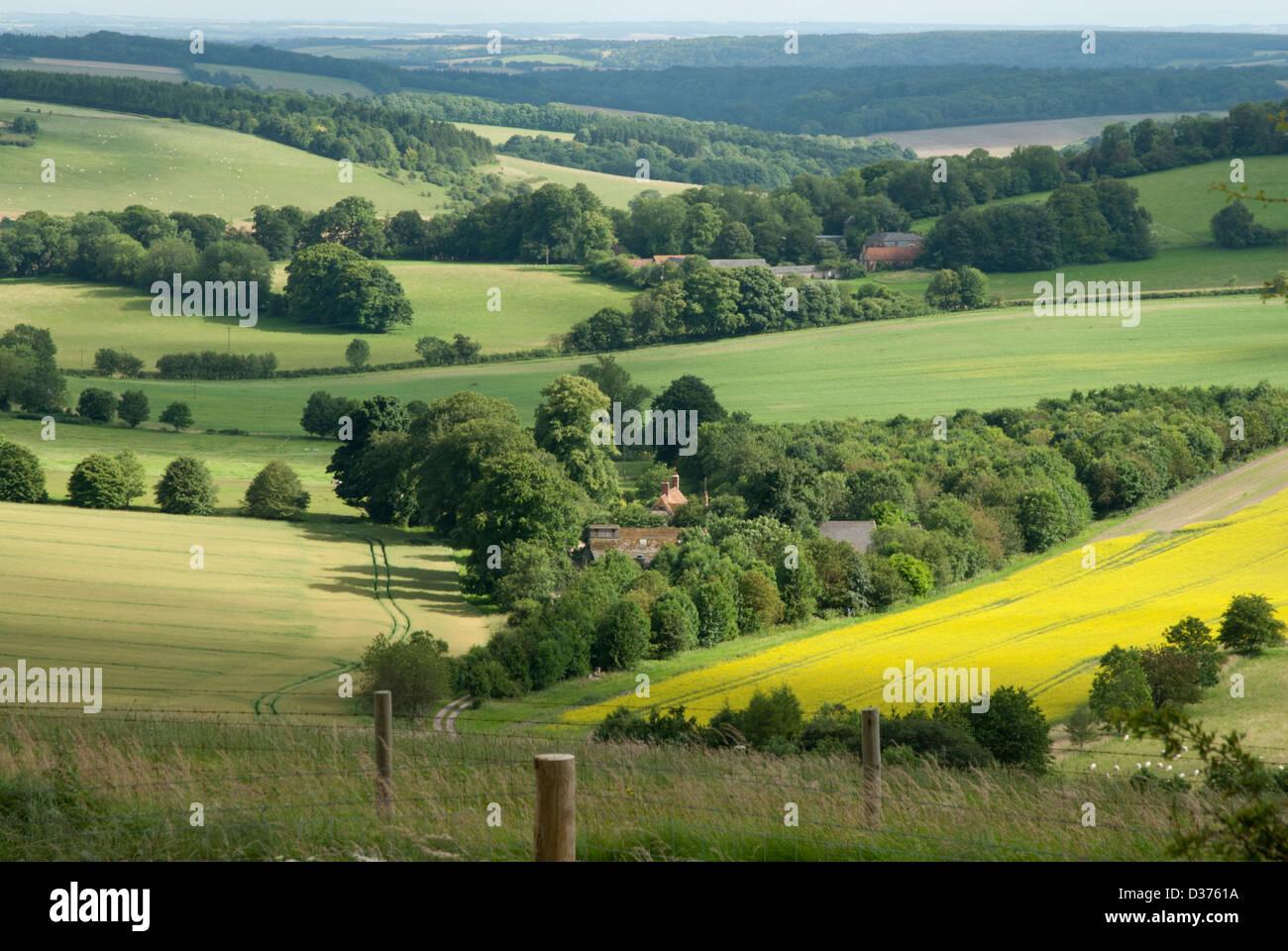 Berkshire Walbury Hill Stock Photos & Berkshire Walbury Hill