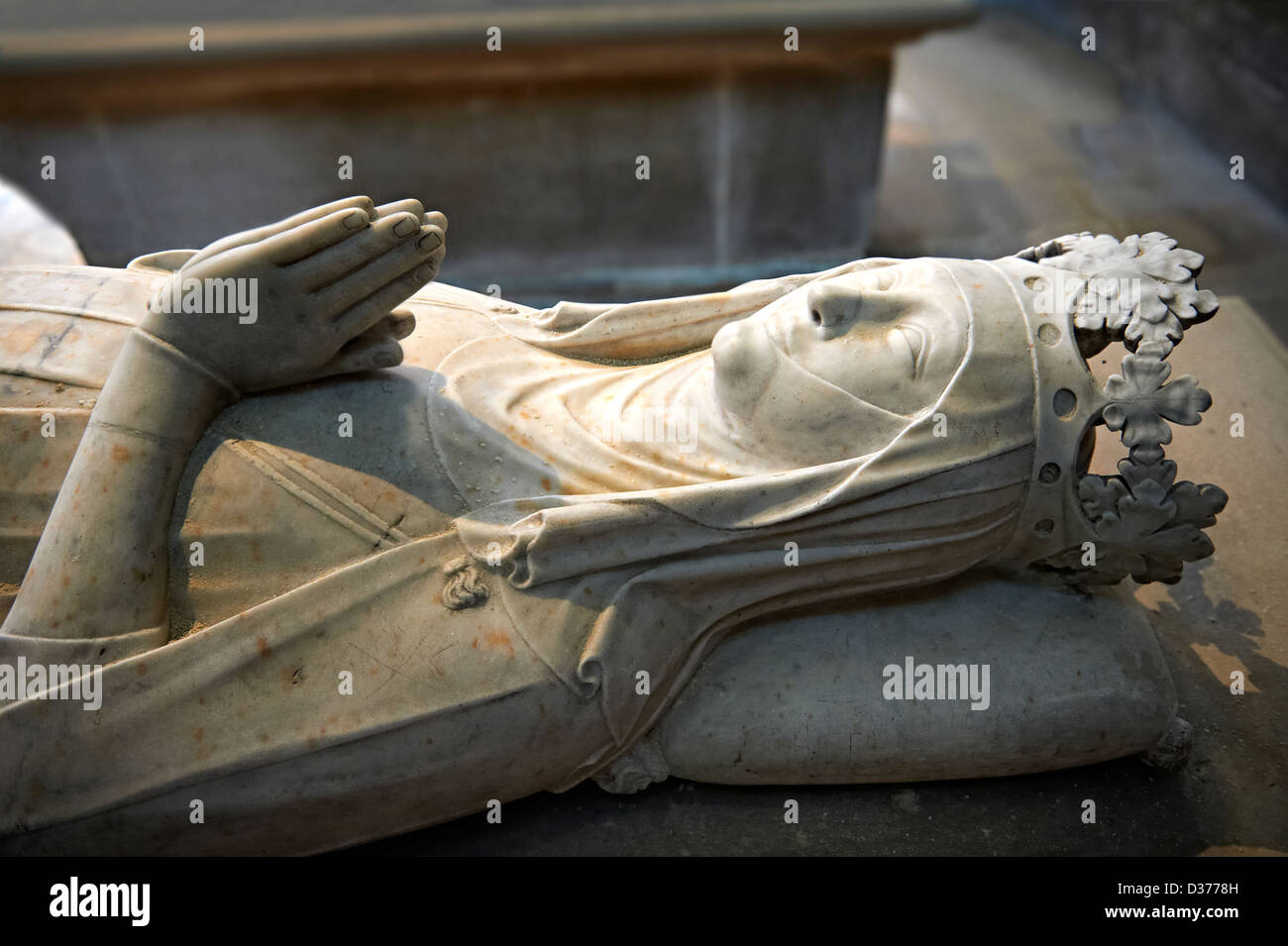 Tomb of Clemence of Hungary (1293 - 1328) daughter of Charles 1st of Hungary, Cathedral Basilica of Saint Denis, - Stock Image