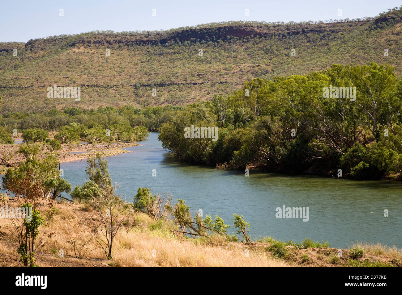 The Victoria River winds through 13,000 sq km (501 sq mile) Gregory National Park, Northern Territory, Australia - Stock Image
