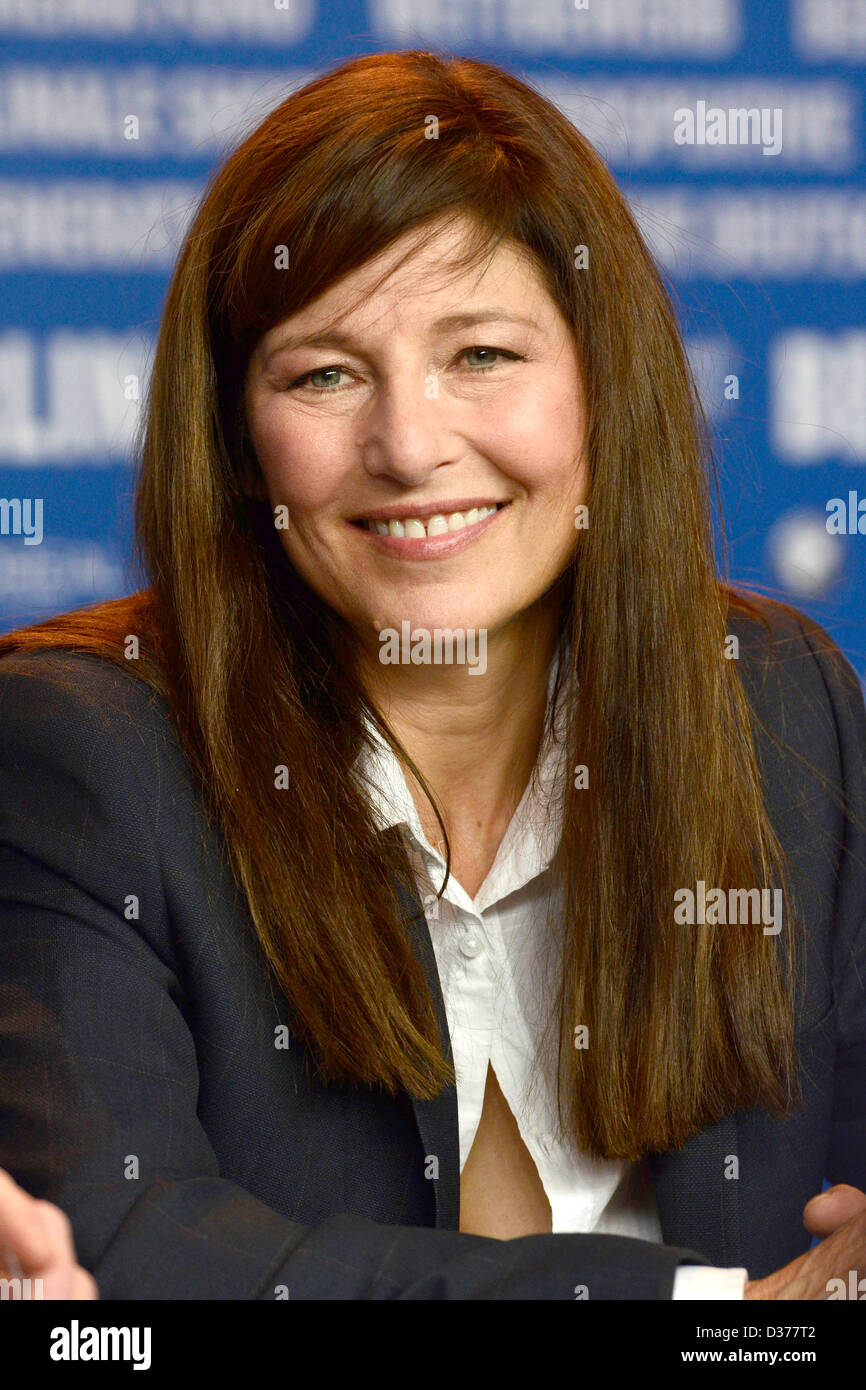 Actress Catherine Keener during the 'Maladies' prerss conference at the 63rd Berlin International Film Festival - Stock Image