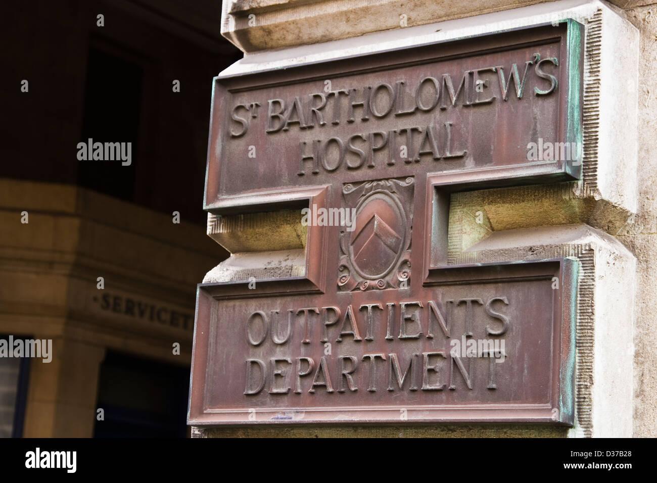 St.Bartholomew's hospital - Stock Image
